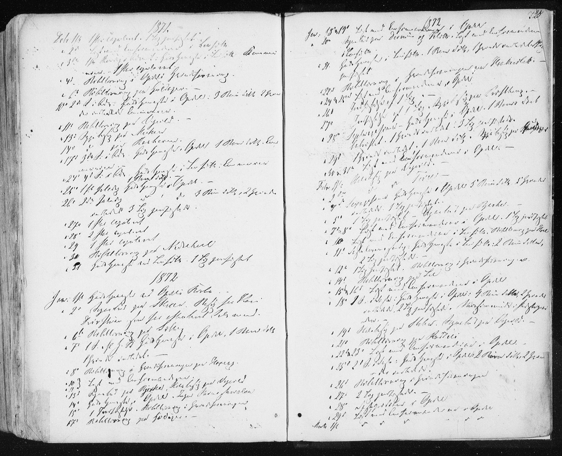 SAT, Ministerialprotokoller, klokkerbøker og fødselsregistre - Sør-Trøndelag, 678/L0899: Ministerialbok nr. 678A08, 1848-1872, s. 724