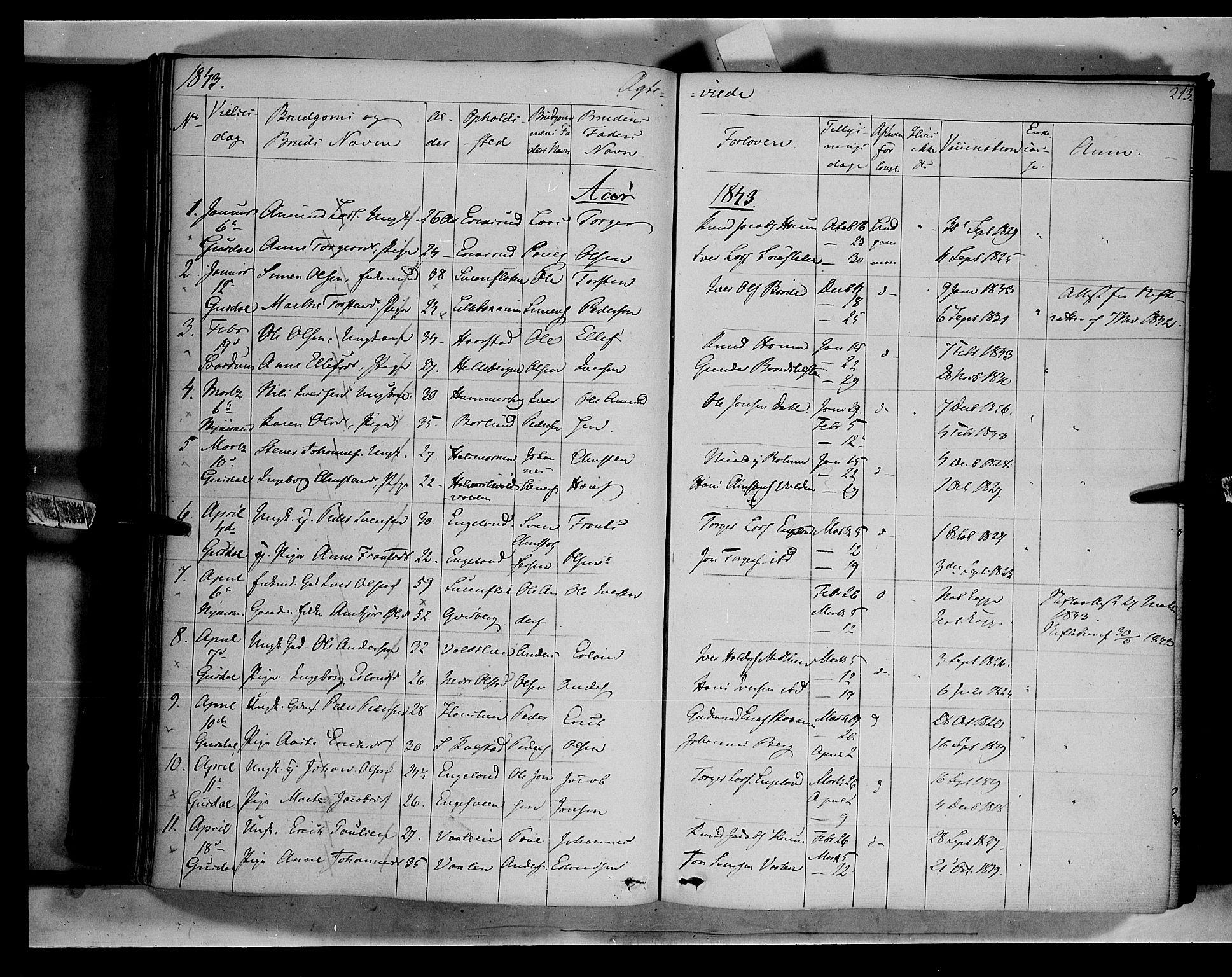 SAH, Gausdal prestekontor, Ministerialbok nr. 7, 1840-1850, s. 213