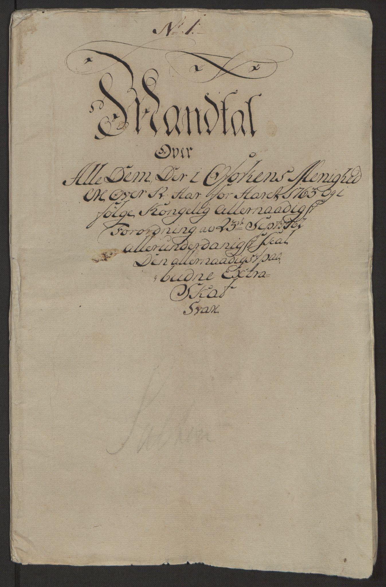 RA, Rentekammeret inntil 1814, Realistisk ordnet avdeling, Ol/L0022a: [Gg 10]: Ekstraskatten, 23.09.1762. Nordlands amt, 1762-1763, s. 2