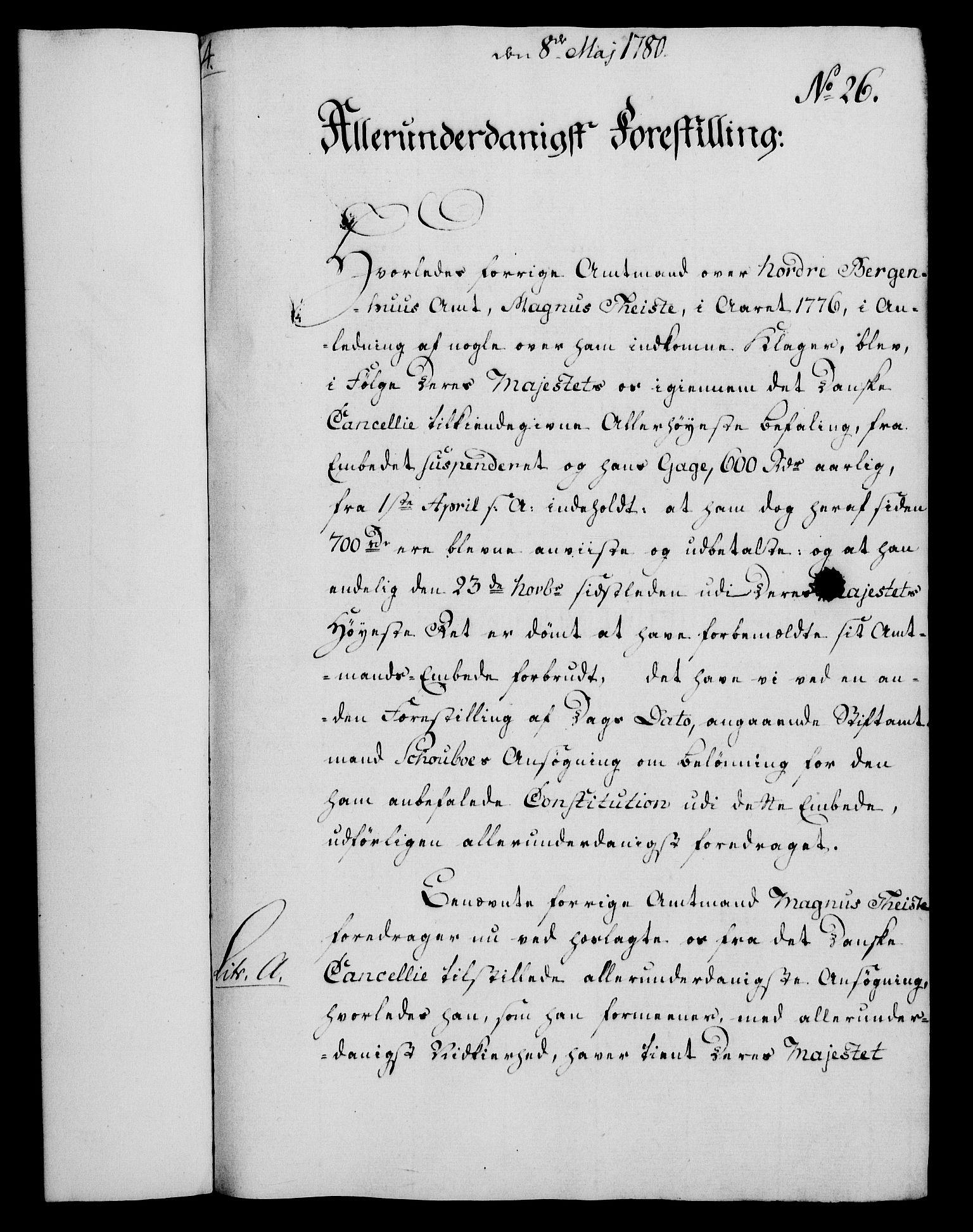 RA, Rentekammeret, Kammerkanselliet, G/Gf/Gfa/L0062: Norsk relasjons- og resolusjonsprotokoll (merket RK 52.62), 1780, s. 223