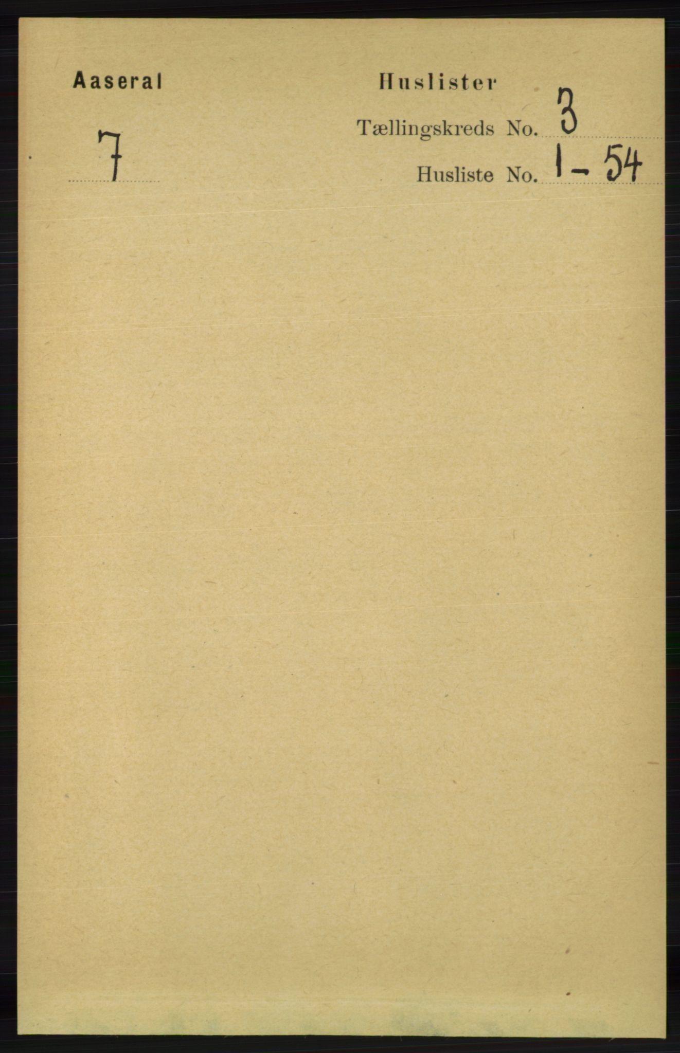 RA, Folketelling 1891 for 1026 Åseral herred, 1891, s. 723
