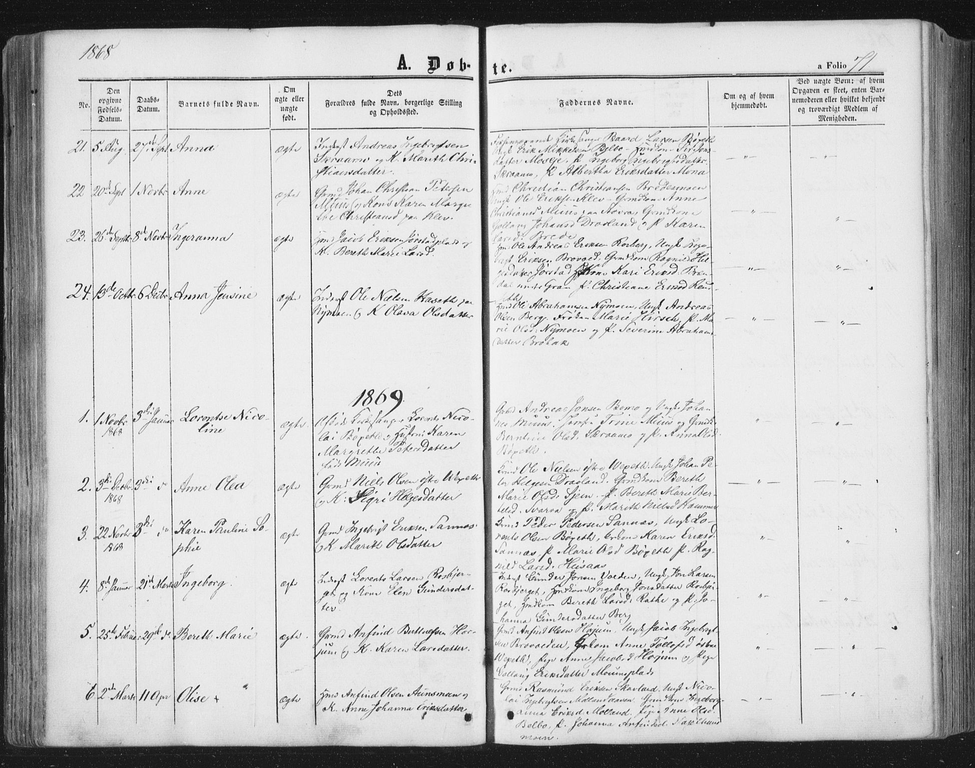 SAT, Ministerialprotokoller, klokkerbøker og fødselsregistre - Nord-Trøndelag, 749/L0472: Ministerialbok nr. 749A06, 1857-1873, s. 71