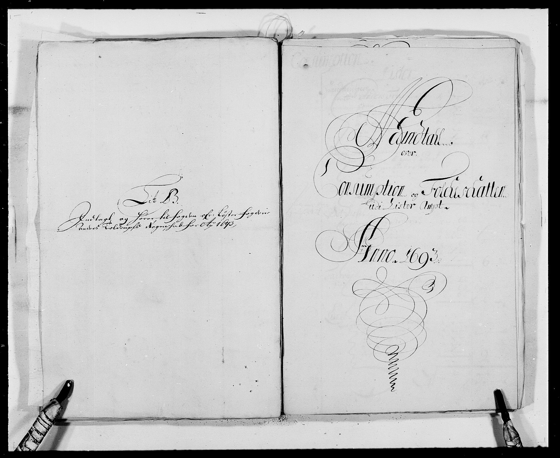 RA, Rentekammeret inntil 1814, Reviderte regnskaper, Fogderegnskap, R41/L2536: Fogderegnskap Lista, 1690-1693, s. 442