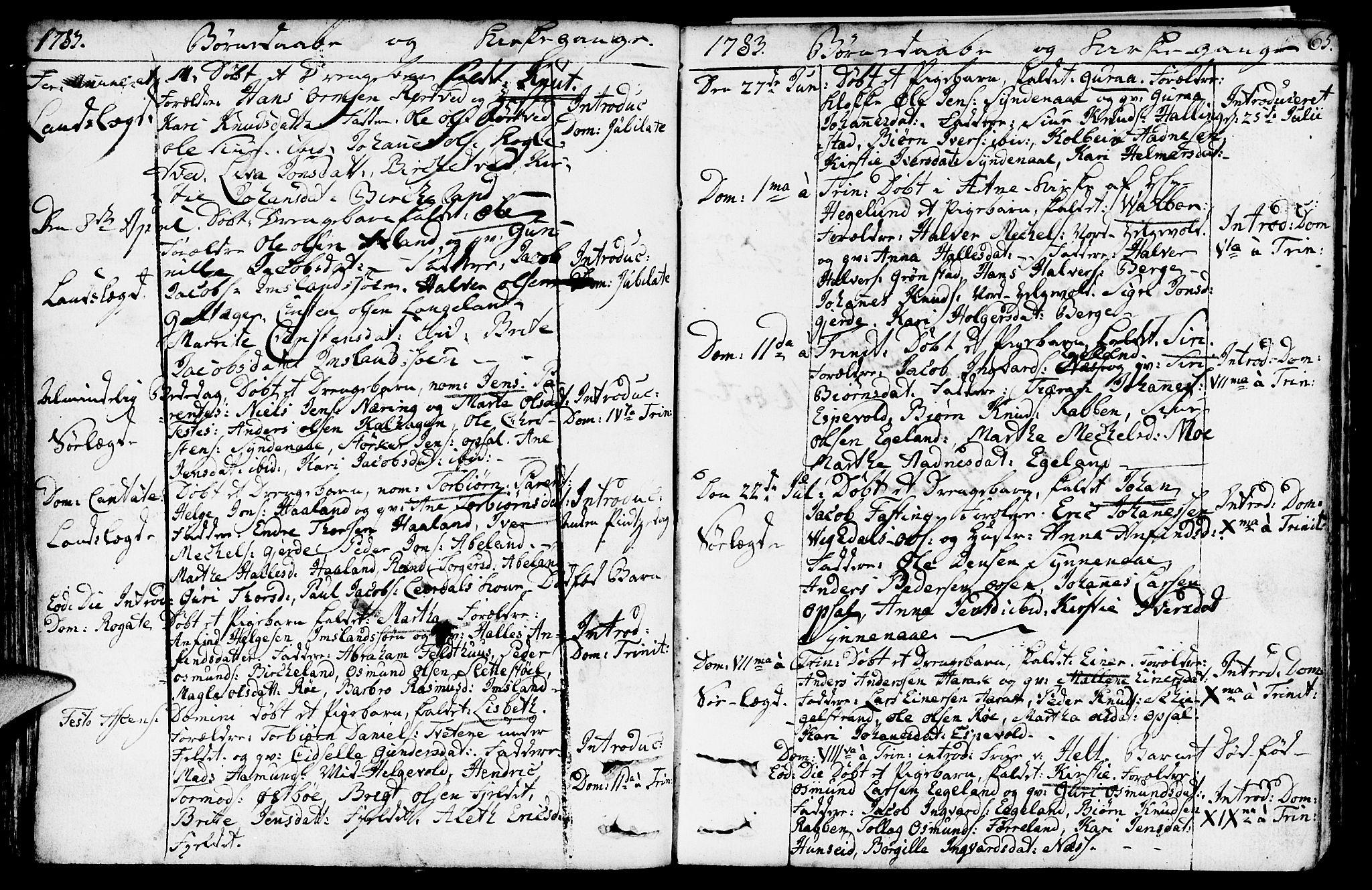 SAST, Vikedal sokneprestkontor, IV: Ministerialbok nr. A 2, 1779-1817, s. 65