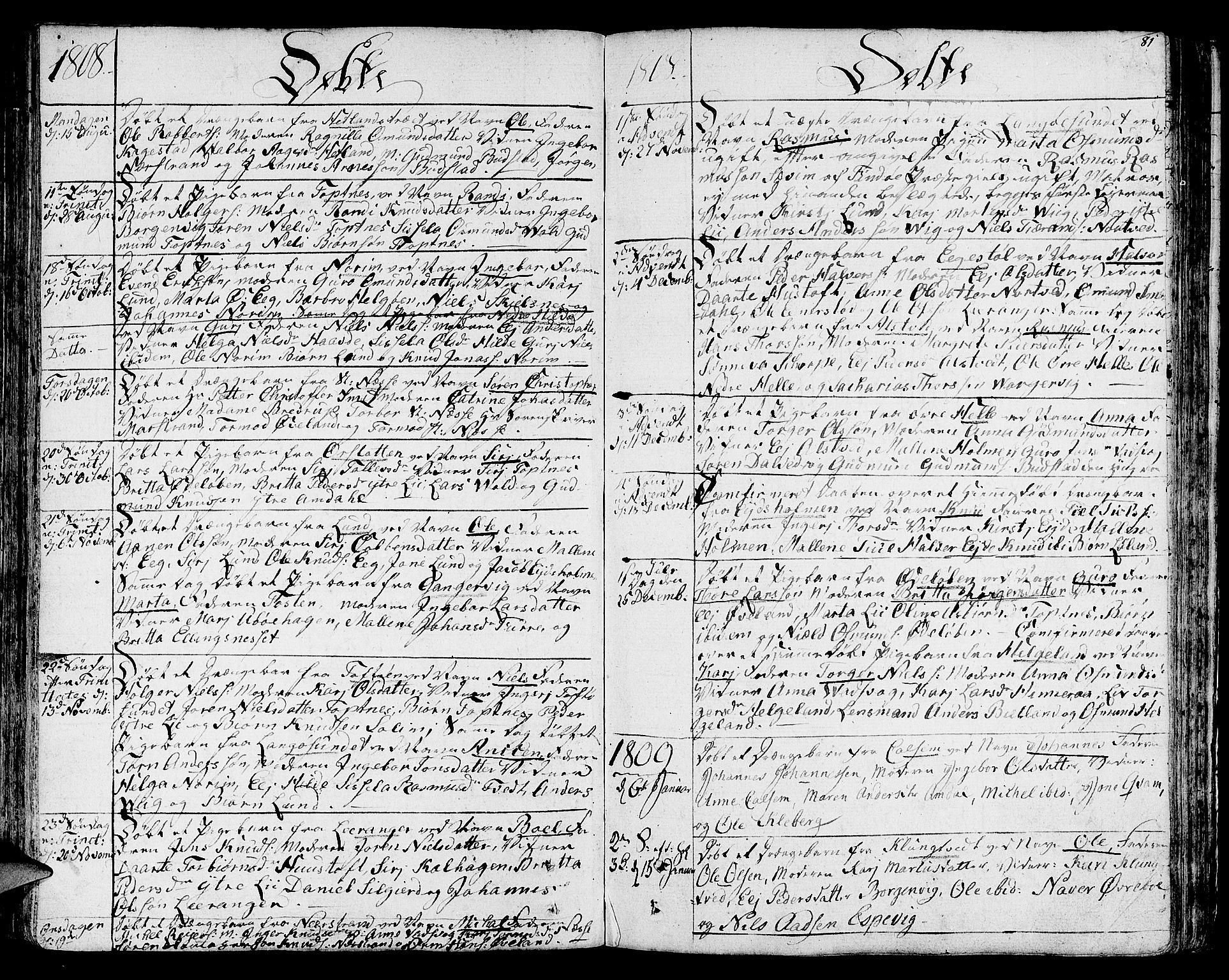 SAST, Nedstrand sokneprestkontor, IV: Ministerialbok nr. A 5, 1795-1816, s. 81