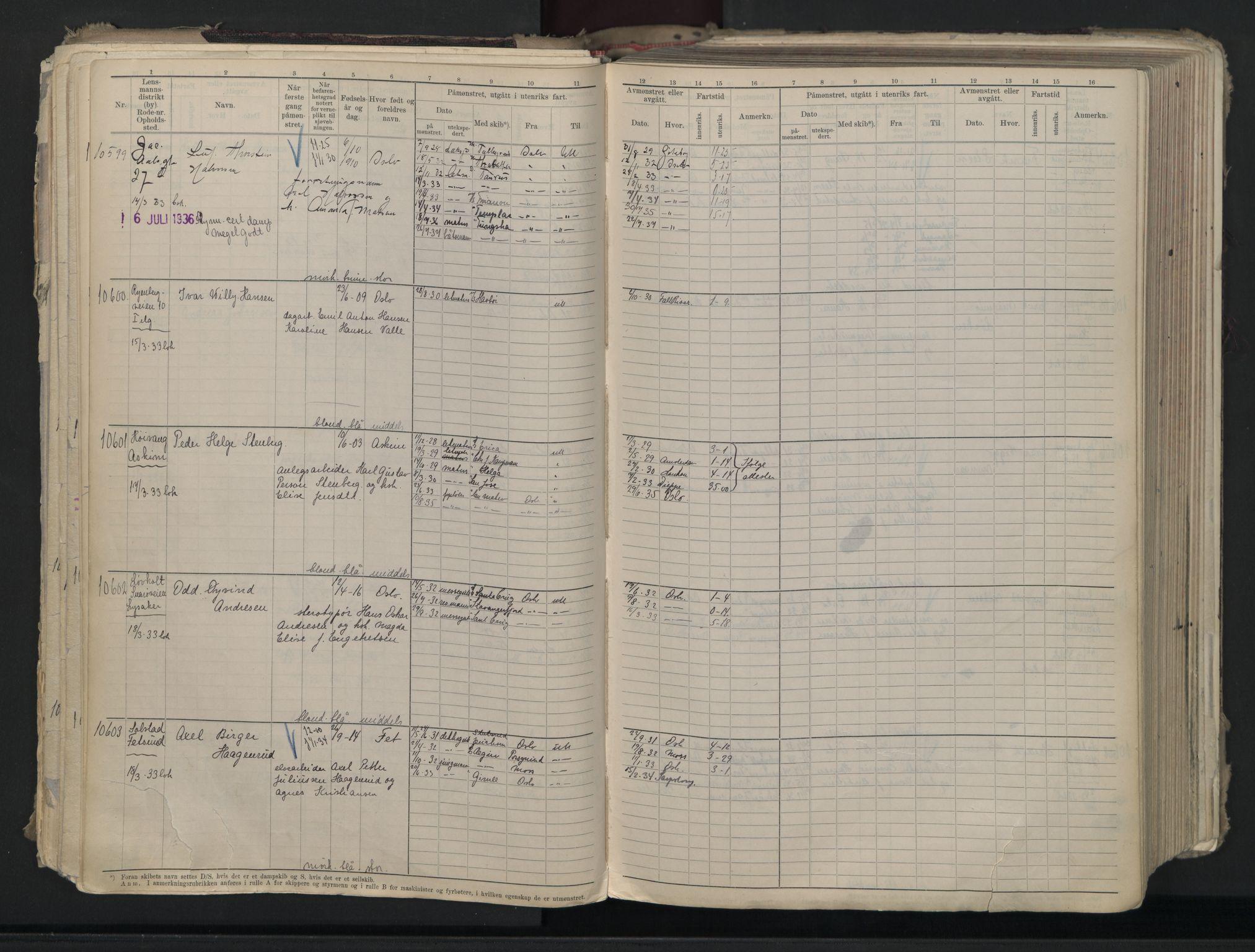 SAO, Oslo sjømannskontor, F/Fc/L0007: Hovedrulle, 1930-1948, s. 117