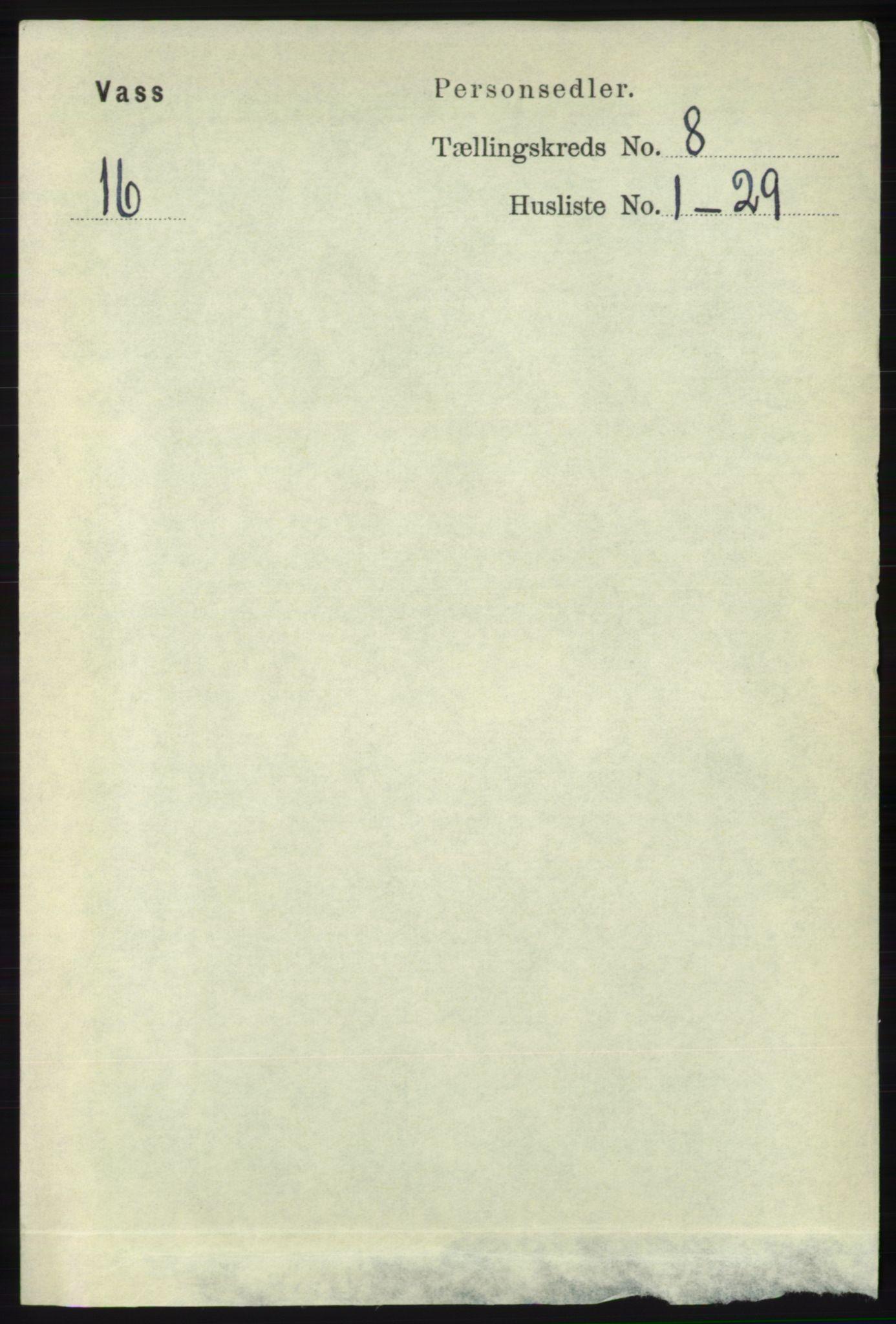 RA, Folketelling 1891 for 1155 Vats herred, 1891, s. 1332