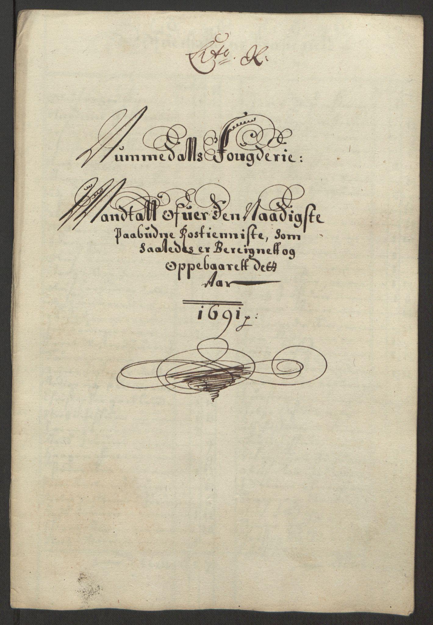 RA, Rentekammeret inntil 1814, Reviderte regnskaper, Fogderegnskap, R64/L4423: Fogderegnskap Namdal, 1690-1691, s. 270