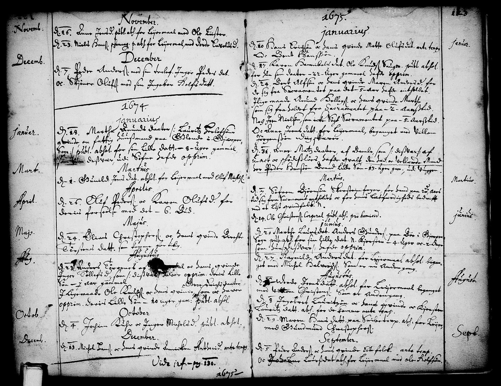 SAKO, Skien kirkebøker, F/Fa/L0001: Ministerialbok nr. 1, 1659-1679, s. 123