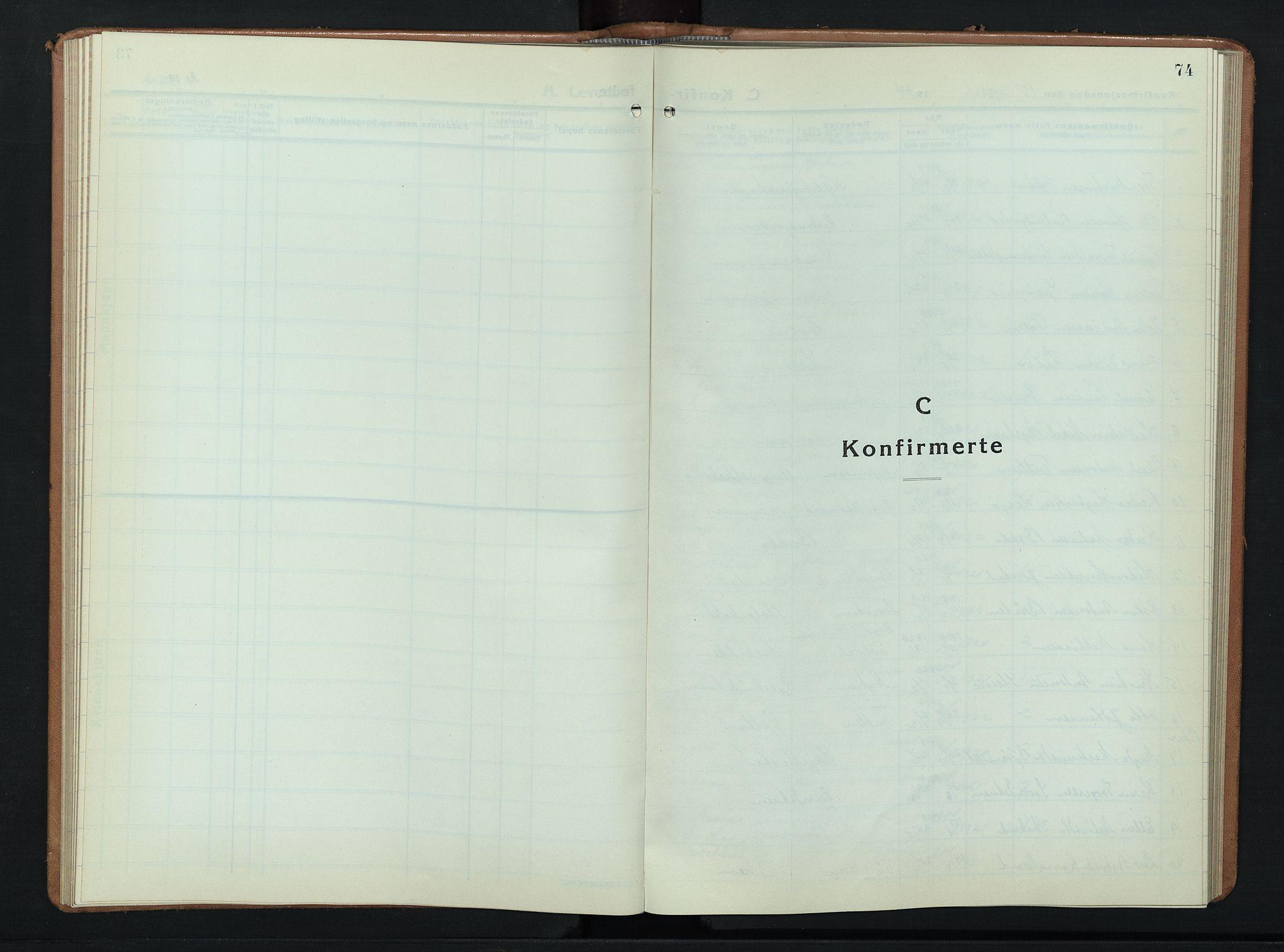 SAH, Ringebu prestekontor, Klokkerbok nr. 12, 1934-1949, s. 74