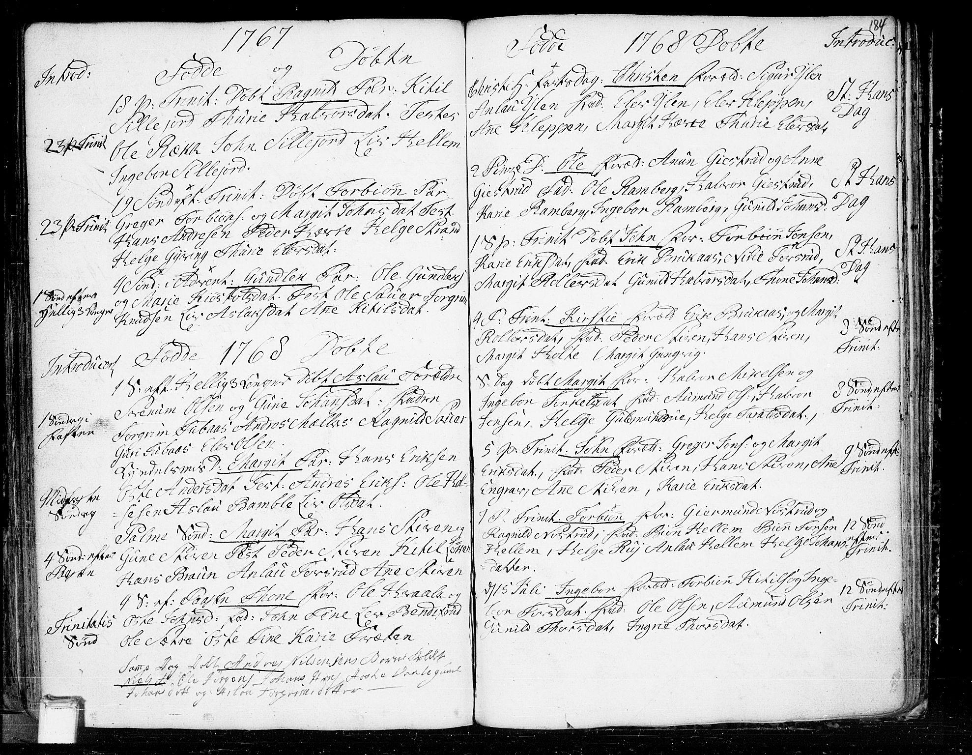 SAKO, Heddal kirkebøker, F/Fa/L0003: Ministerialbok nr. I 3, 1723-1783, s. 184