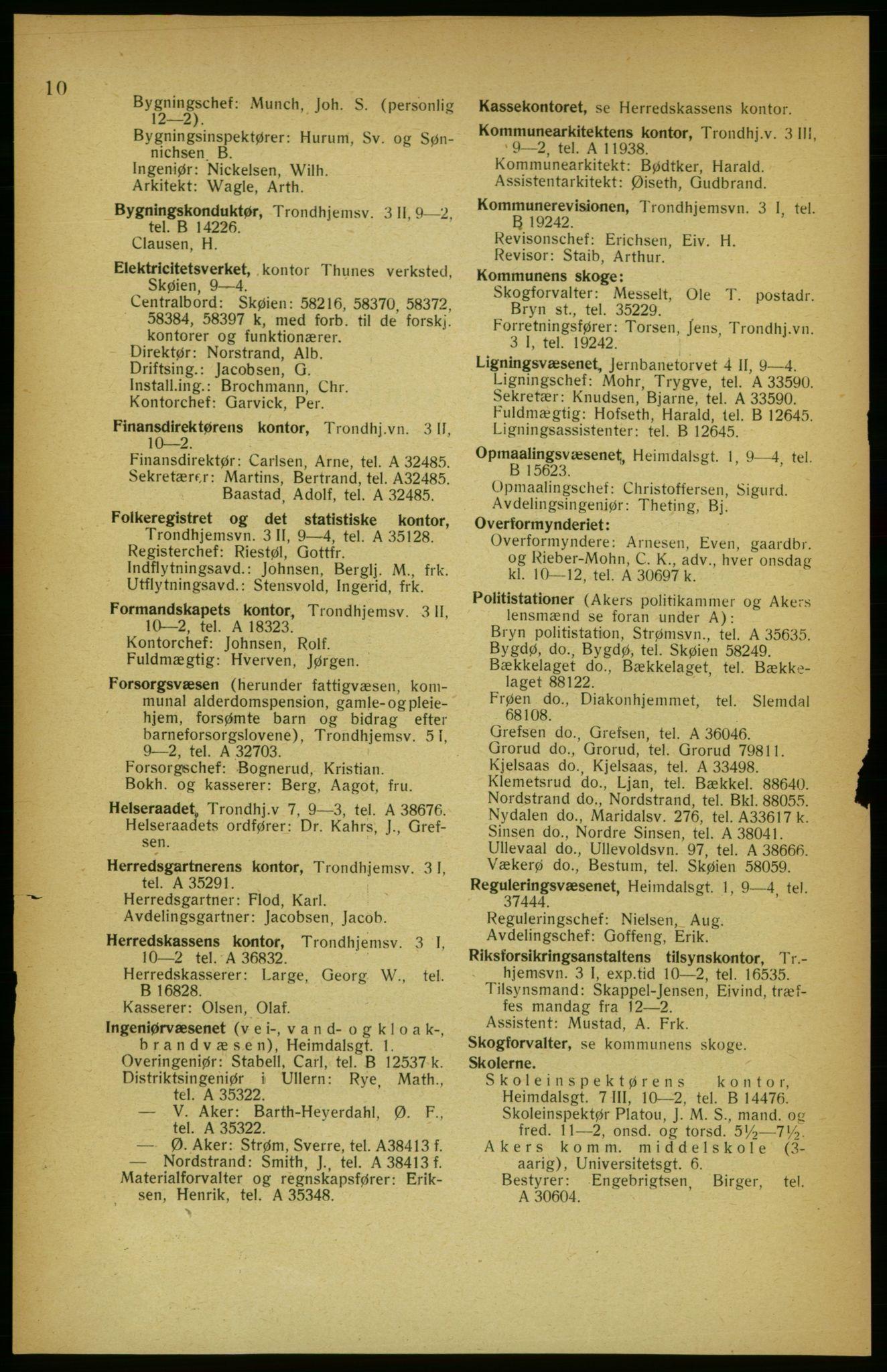 PUBL, Aker adressebok/adressekalender, 1922, s. 10