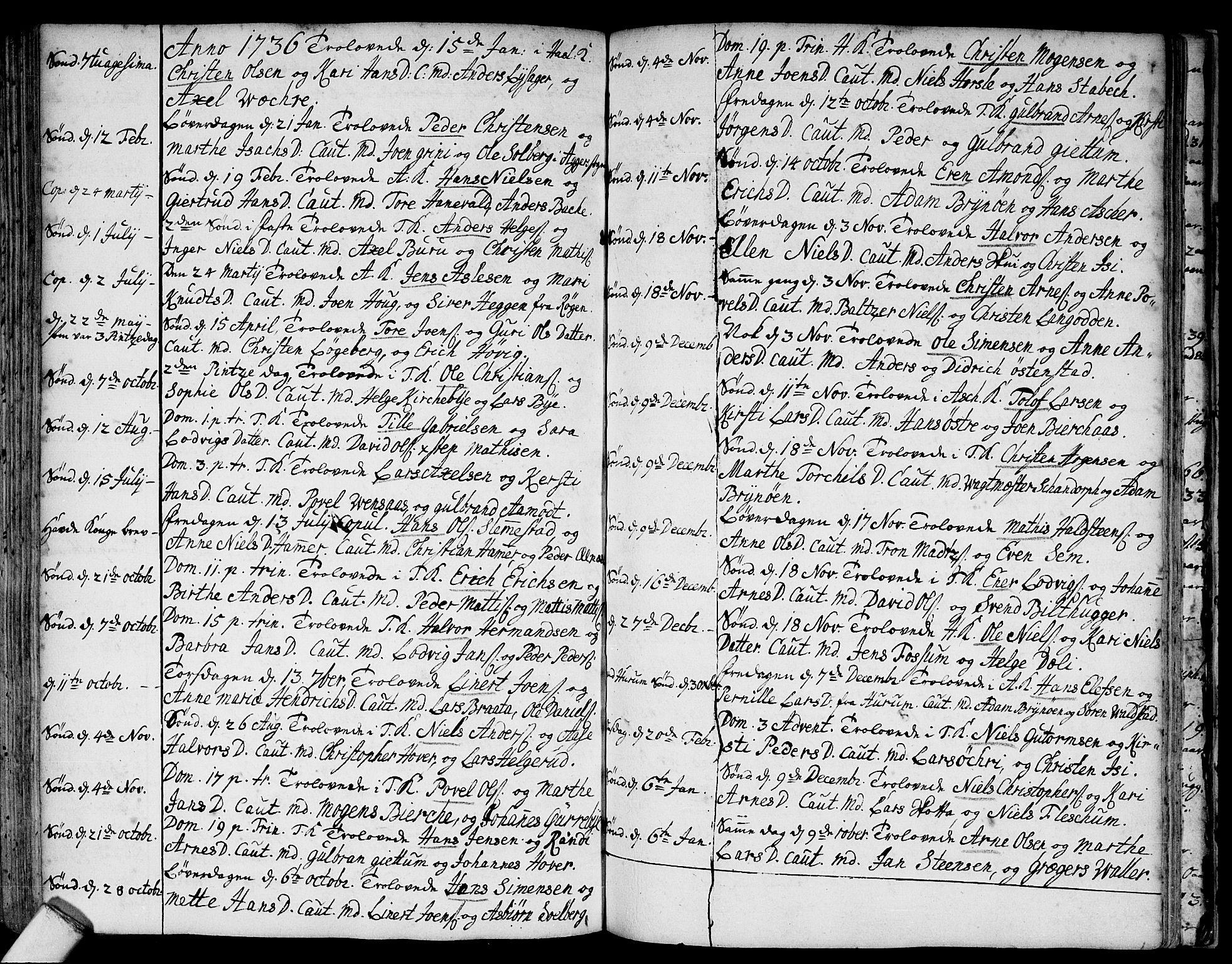 SAO, Asker prestekontor Kirkebøker, F/Fa/L0001: Ministerialbok nr. I 1, 1726-1744, s. 87
