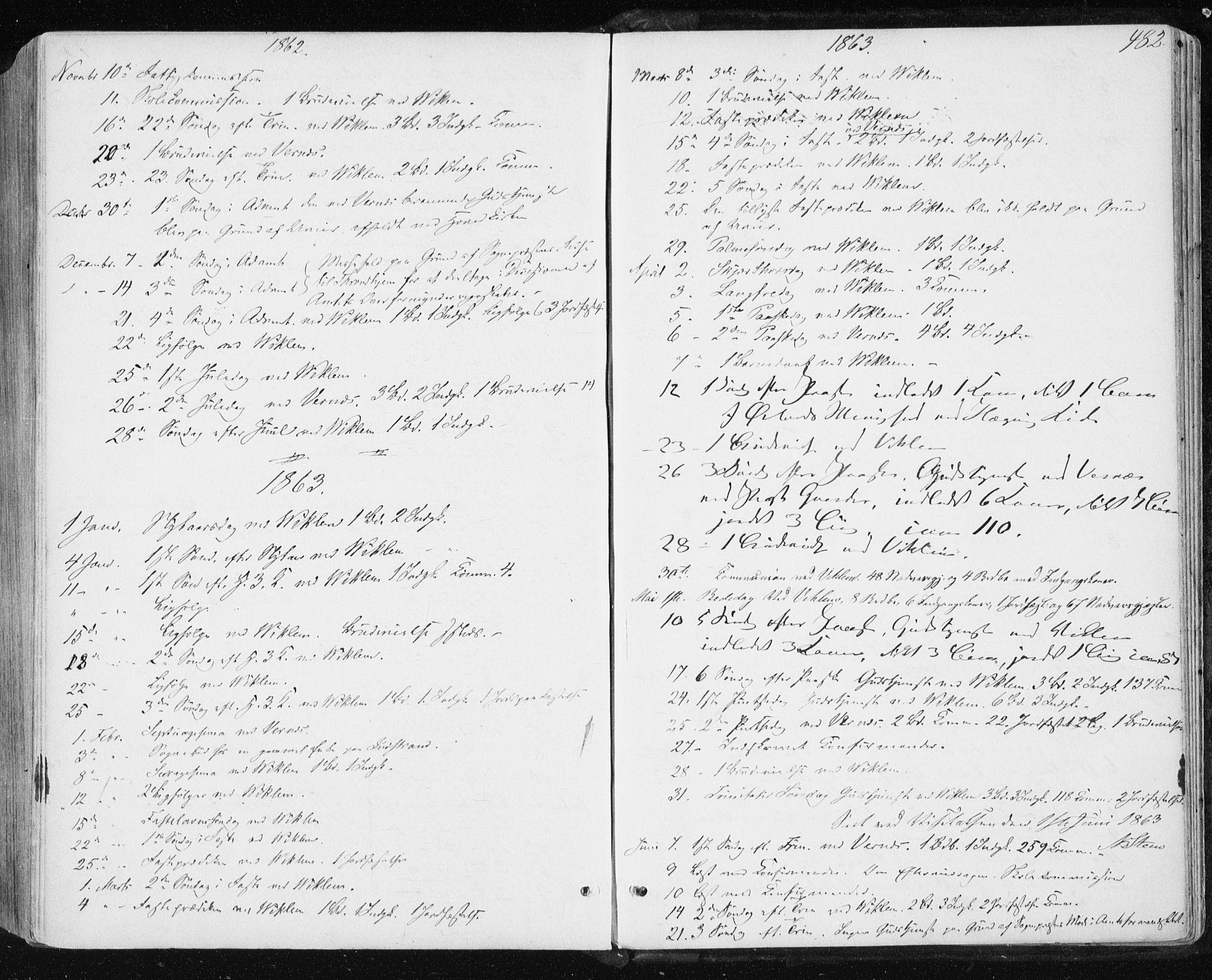 SAT, Ministerialprotokoller, klokkerbøker og fødselsregistre - Sør-Trøndelag, 659/L0737: Ministerialbok nr. 659A07, 1857-1875, s. 482