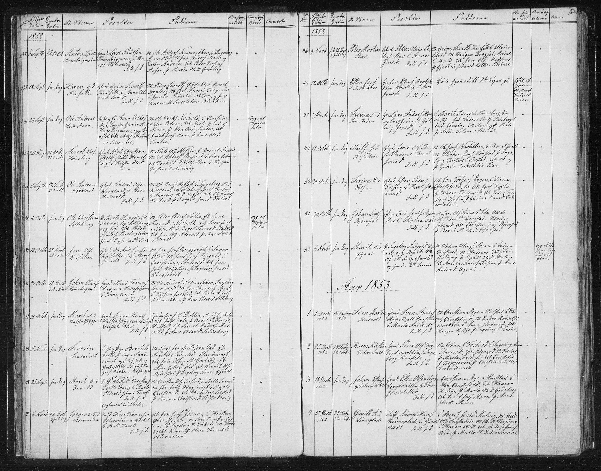 SAT, Ministerialprotokoller, klokkerbøker og fødselsregistre - Sør-Trøndelag, 616/L0406: Ministerialbok nr. 616A03, 1843-1879, s. 25