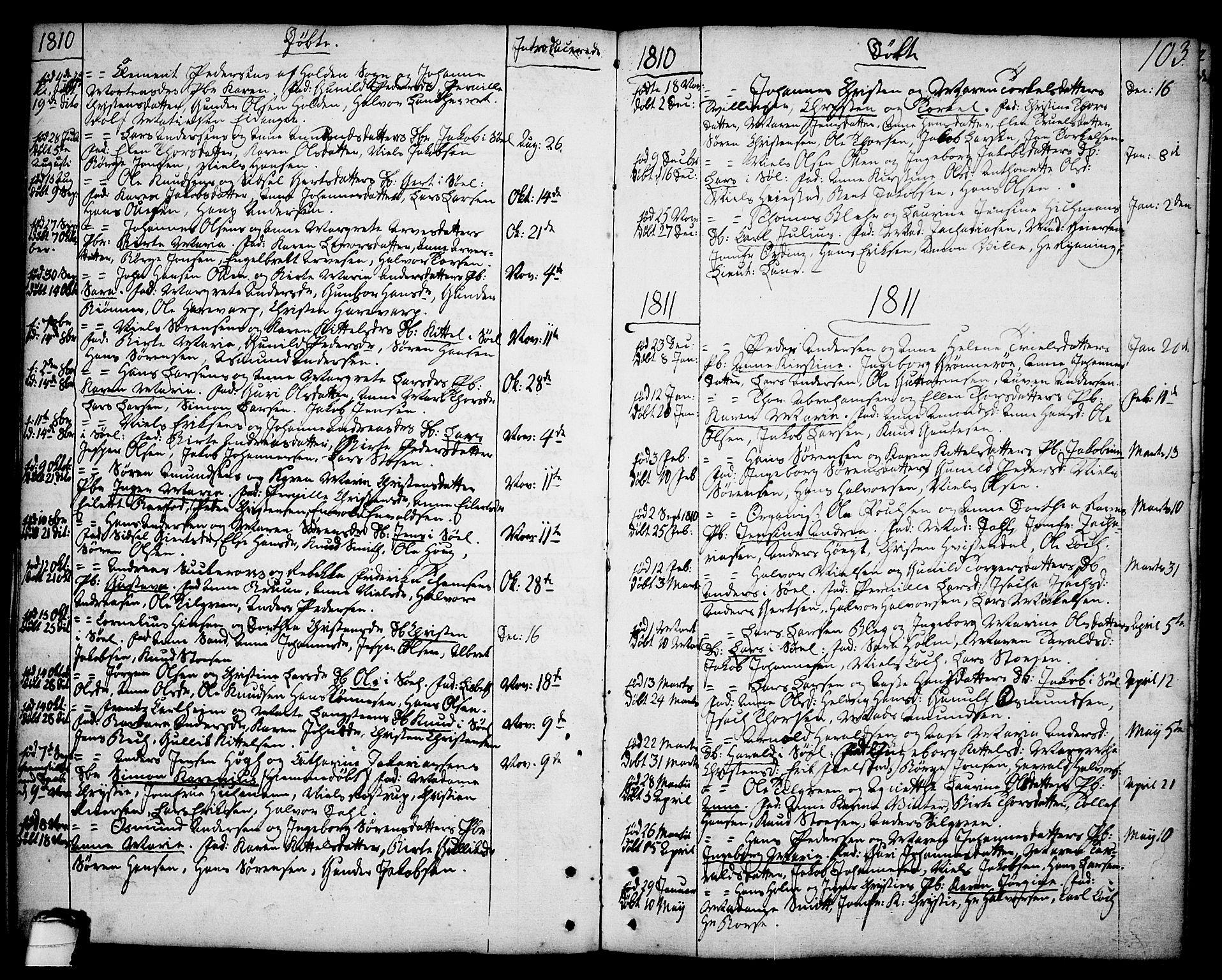 SAKO, Brevik kirkebøker, F/Fa/L0003: Ministerialbok nr. 3, 1764-1814, s. 103