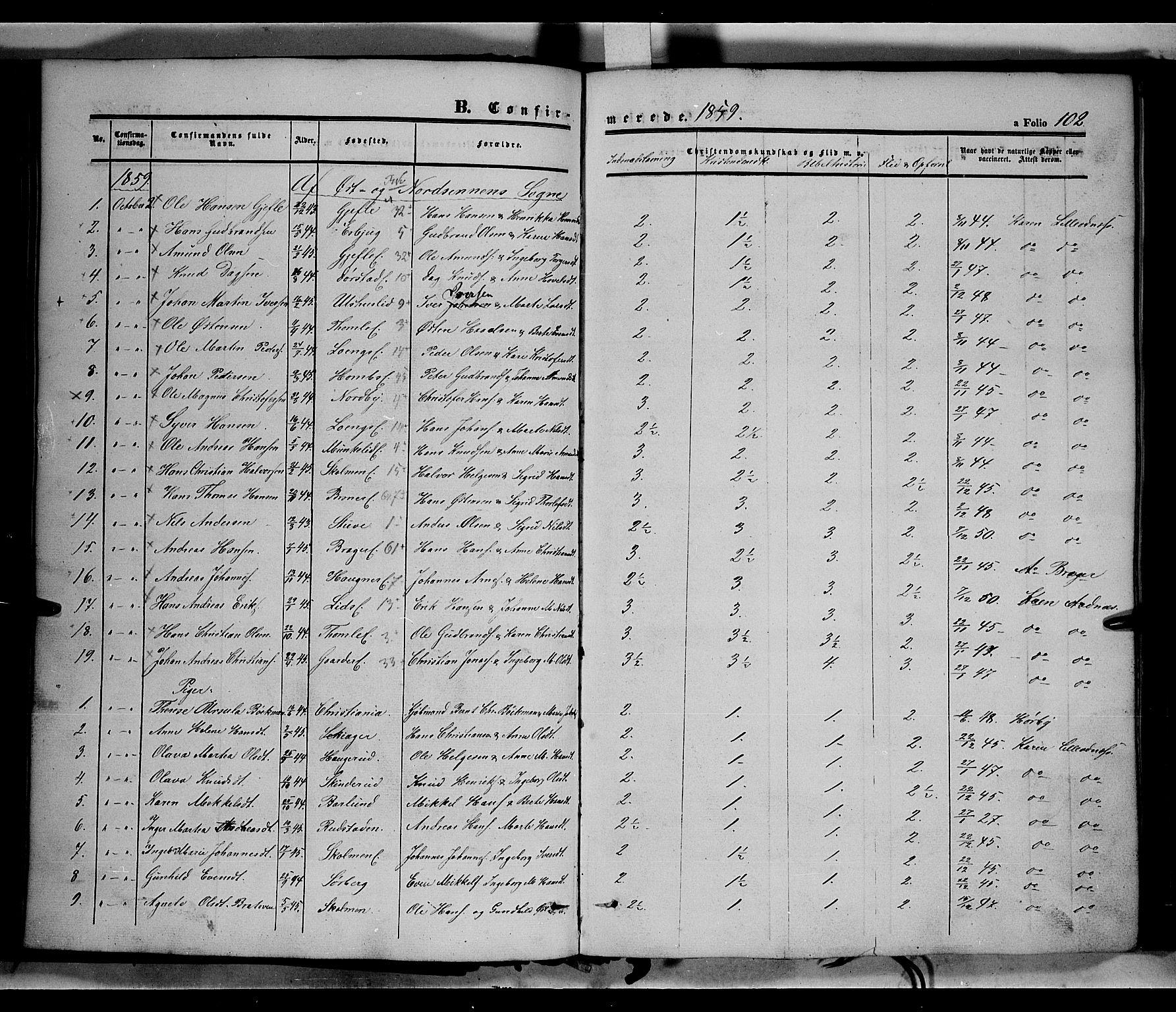 SAH, Land prestekontor, Ministerialbok nr. 10, 1847-1859, s. 102