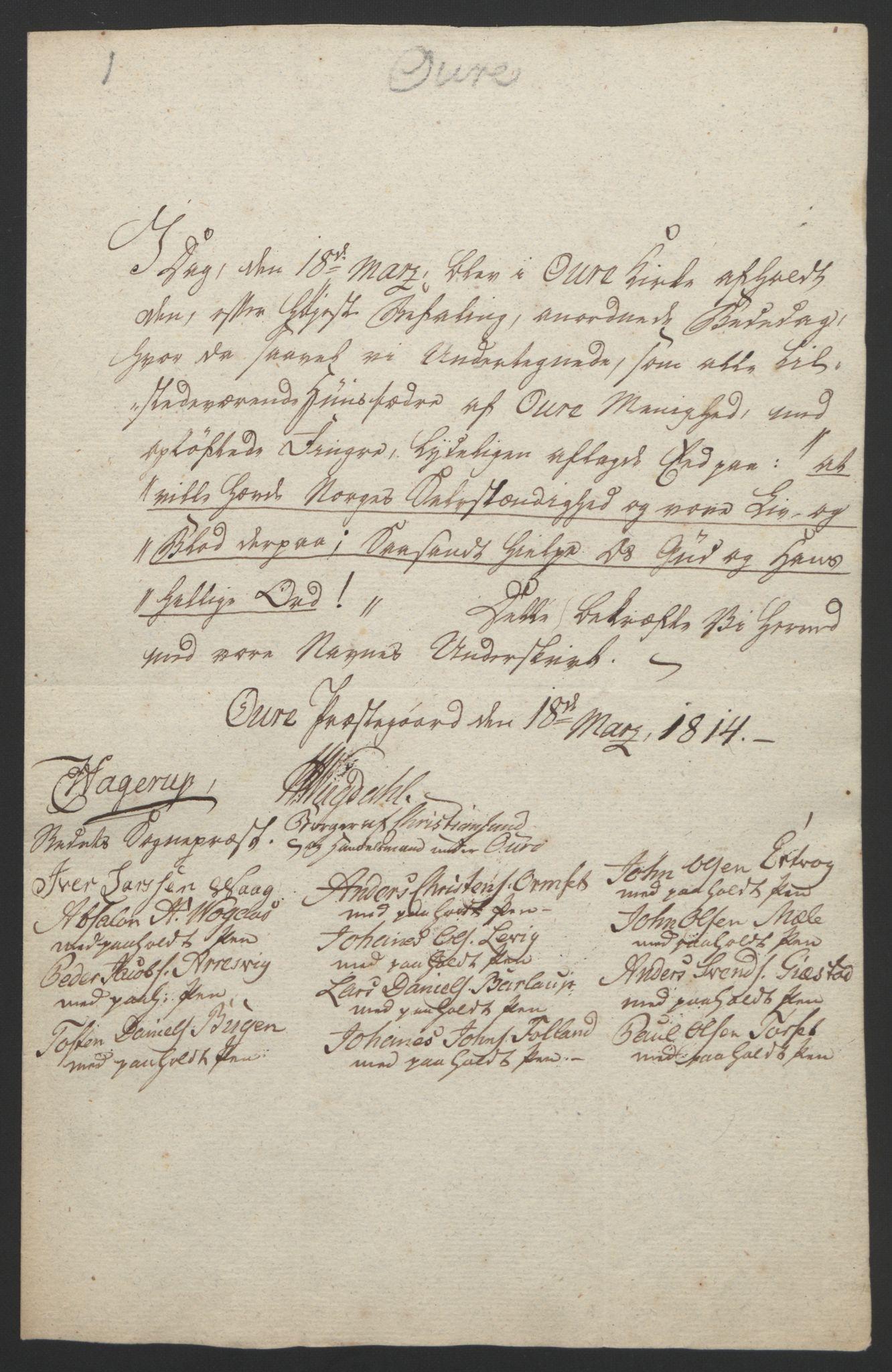 RA, Statsrådssekretariatet, D/Db/L0008: Fullmakter for Eidsvollsrepresentantene i 1814. , 1814, s. 358