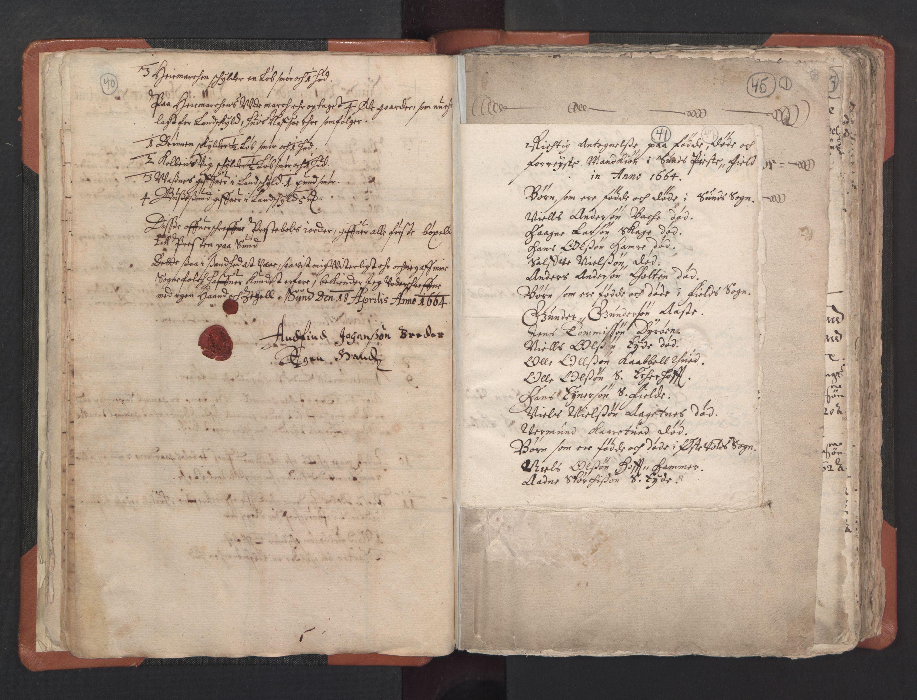 RA, Sogneprestenes manntall 1664-1666, nr. 22: Nordhordland prosti, 1664-1666, s. 40-41