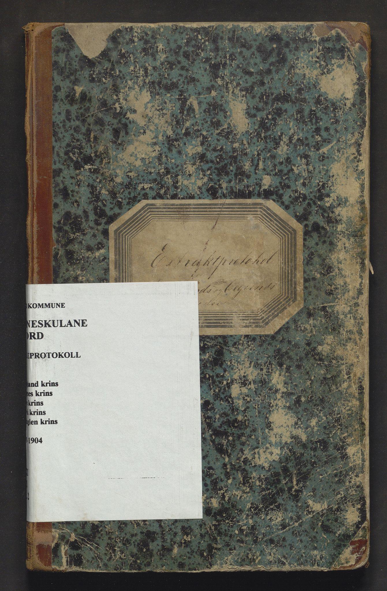 IKAH, Stord kommune. Barneskulane, F/Fa/L0002: Skuleprotokoll for Langeland, Digernes, Føyen, Lervik og Sørhuglen krinsar, 1878-1904