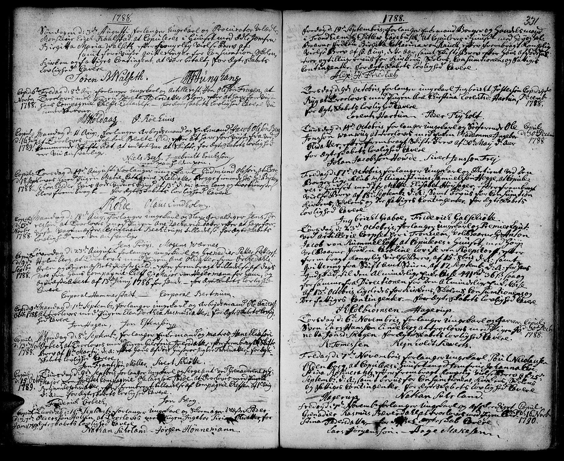 SAT, Ministerialprotokoller, klokkerbøker og fødselsregistre - Sør-Trøndelag, 601/L0038: Ministerialbok nr. 601A06, 1766-1877, s. 331