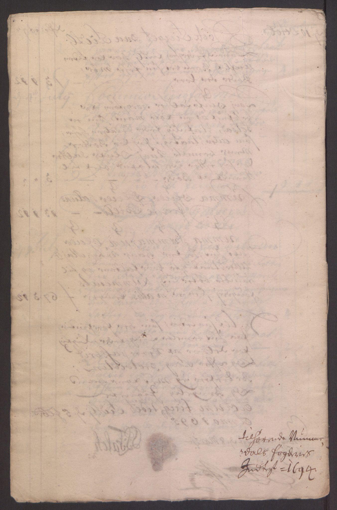 RA, Rentekammeret inntil 1814, Reviderte regnskaper, Fogderegnskap, R64/L4424: Fogderegnskap Namdal, 1692-1695, s. 394