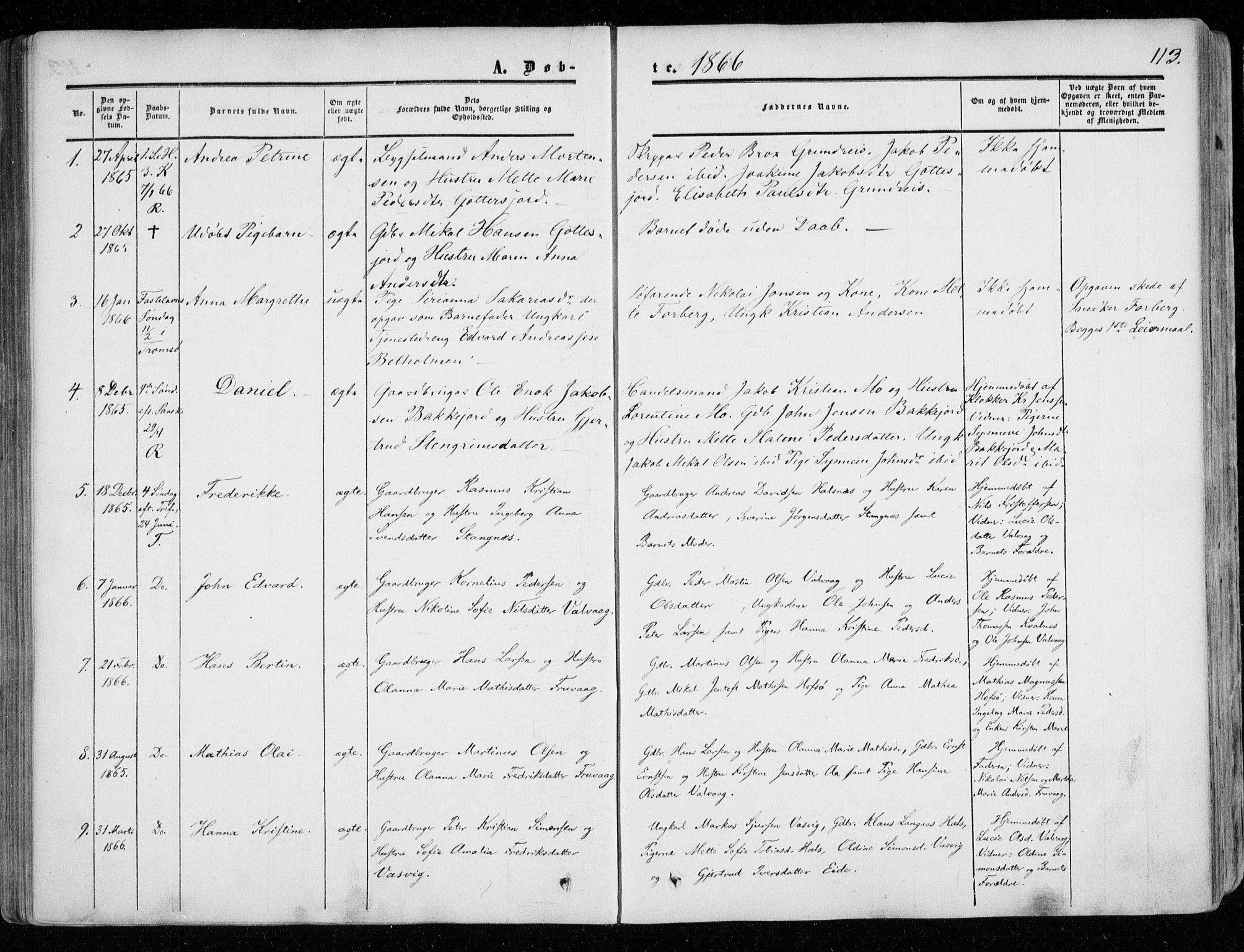 SATØ, Tranøy sokneprestkontor, I/Ia/Iaa/L0007kirke: Ministerialbok nr. 7, 1856-1866, s. 113