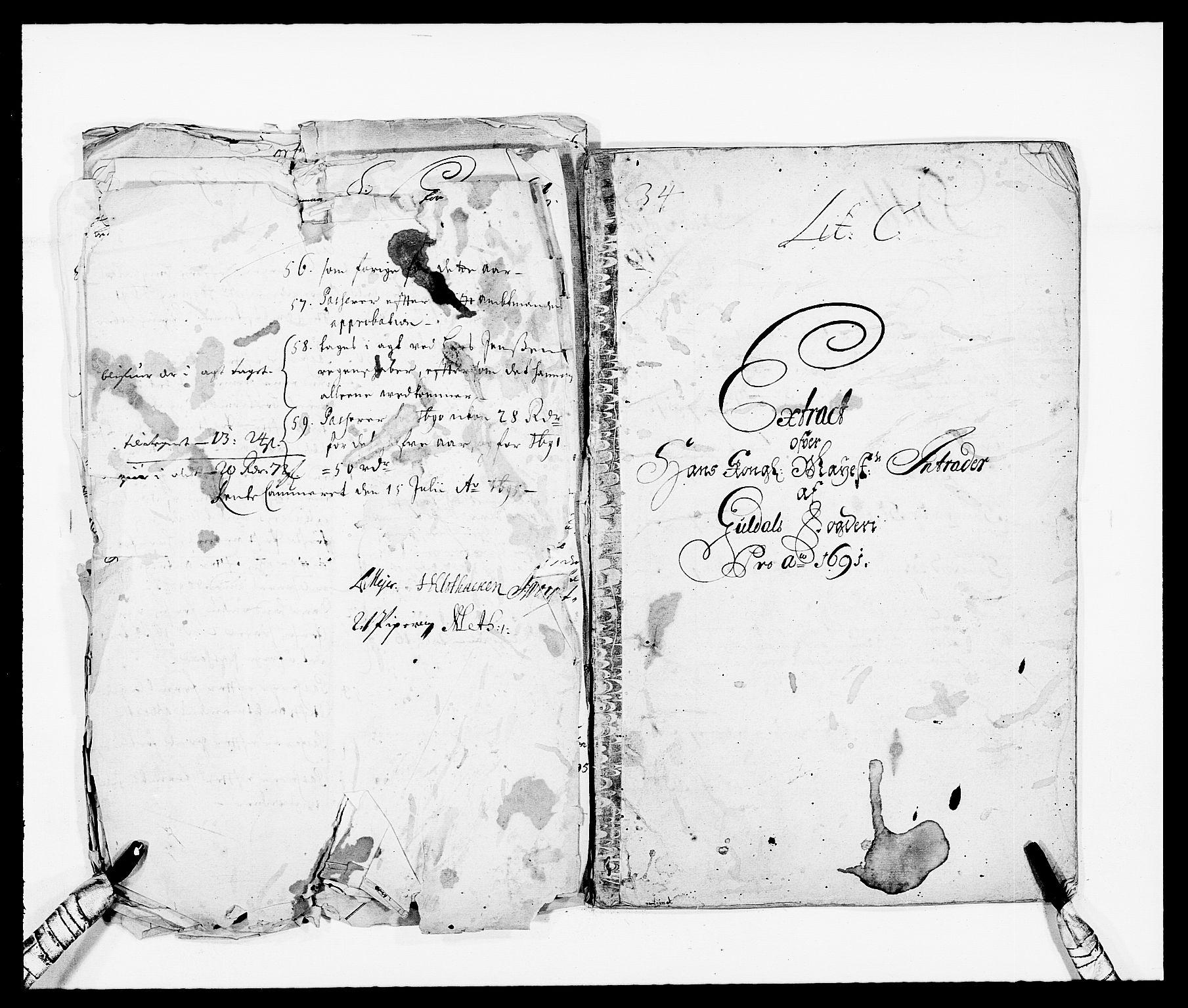 RA, Rentekammeret inntil 1814, Reviderte regnskaper, Fogderegnskap, R59/L3941: Fogderegnskap Gauldal, 1691, s. 3