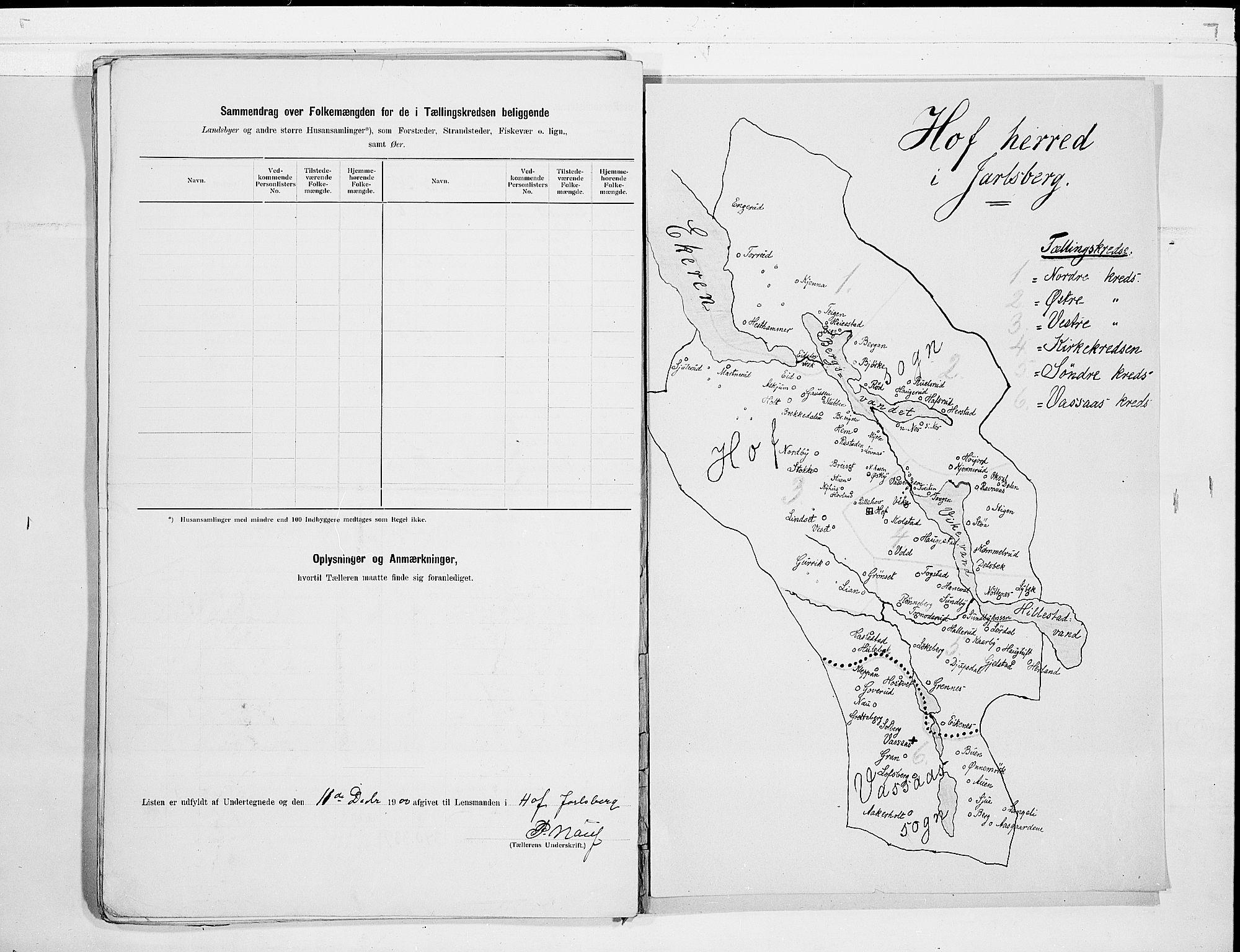 RA, Folketelling 1900 for 0714 Hof herred, 1900, s. 18