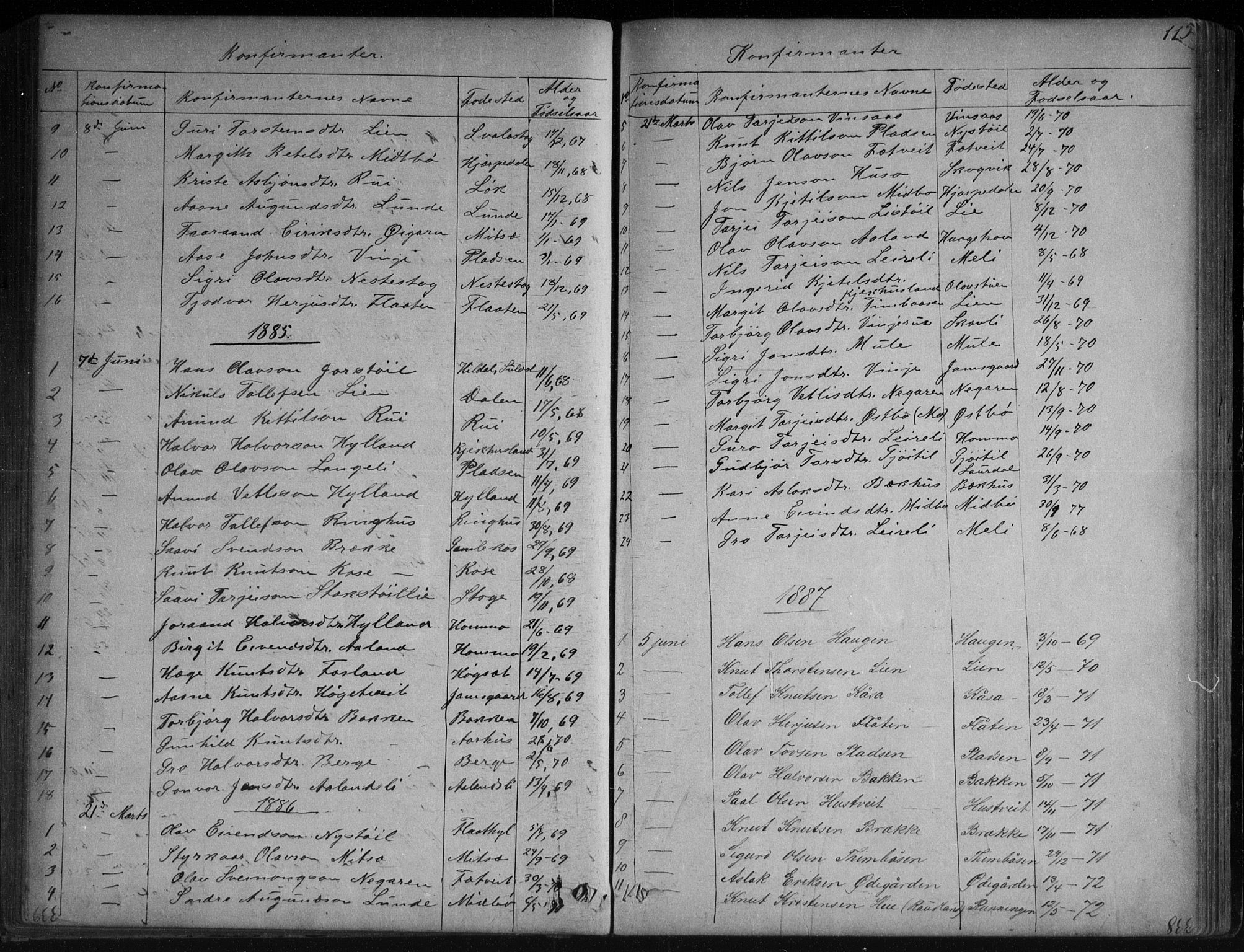 SAKO, Vinje kirkebøker, G/Ga/L0002: Klokkerbok nr. I 2, 1849-1893, s. 115