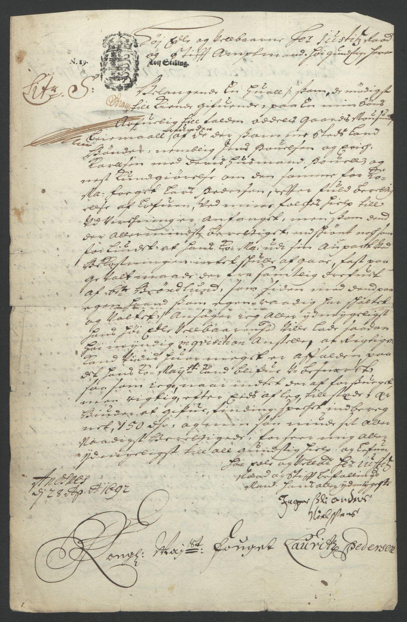 RA, Rentekammeret inntil 1814, Reviderte regnskaper, Fogderegnskap, R57/L3849: Fogderegnskap Fosen, 1692-1693, s. 251