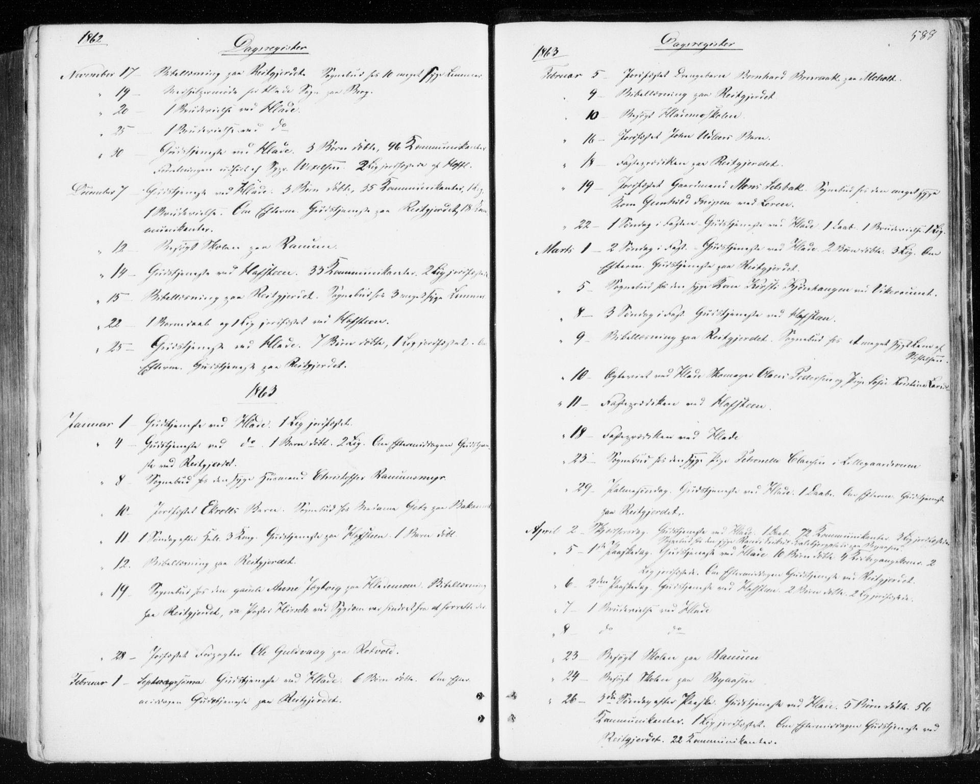 SAT, Ministerialprotokoller, klokkerbøker og fødselsregistre - Sør-Trøndelag, 606/L0292: Ministerialbok nr. 606A07, 1856-1865, s. 588