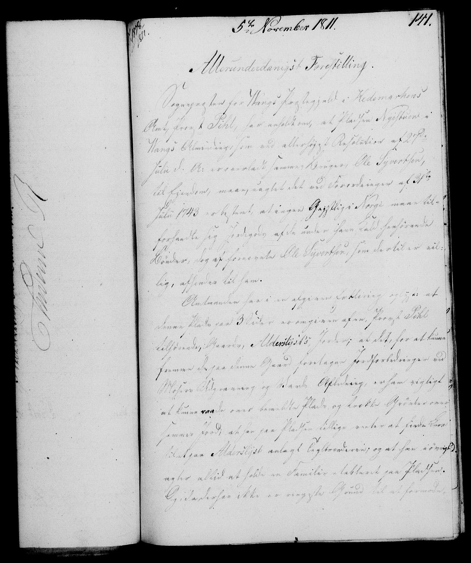 RA, Rentekammeret, Kammerkanselliet, G/Gf/Gfa/L0093: Norsk relasjons- og resolusjonsprotokoll (merket RK 52.93), 1811, s. 560