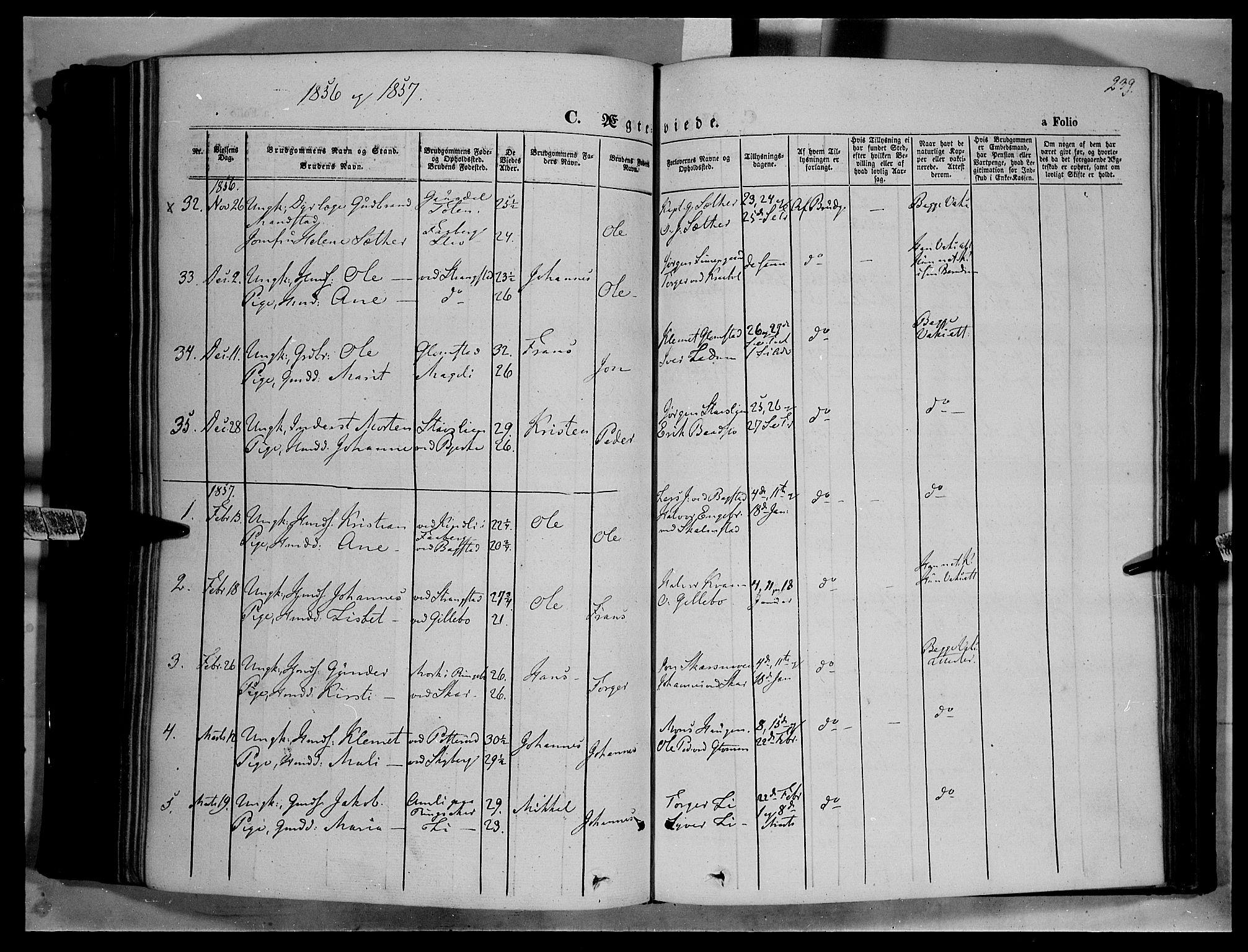 SAH, Øyer prestekontor, Ministerialbok nr. 5, 1842-1857, s. 239