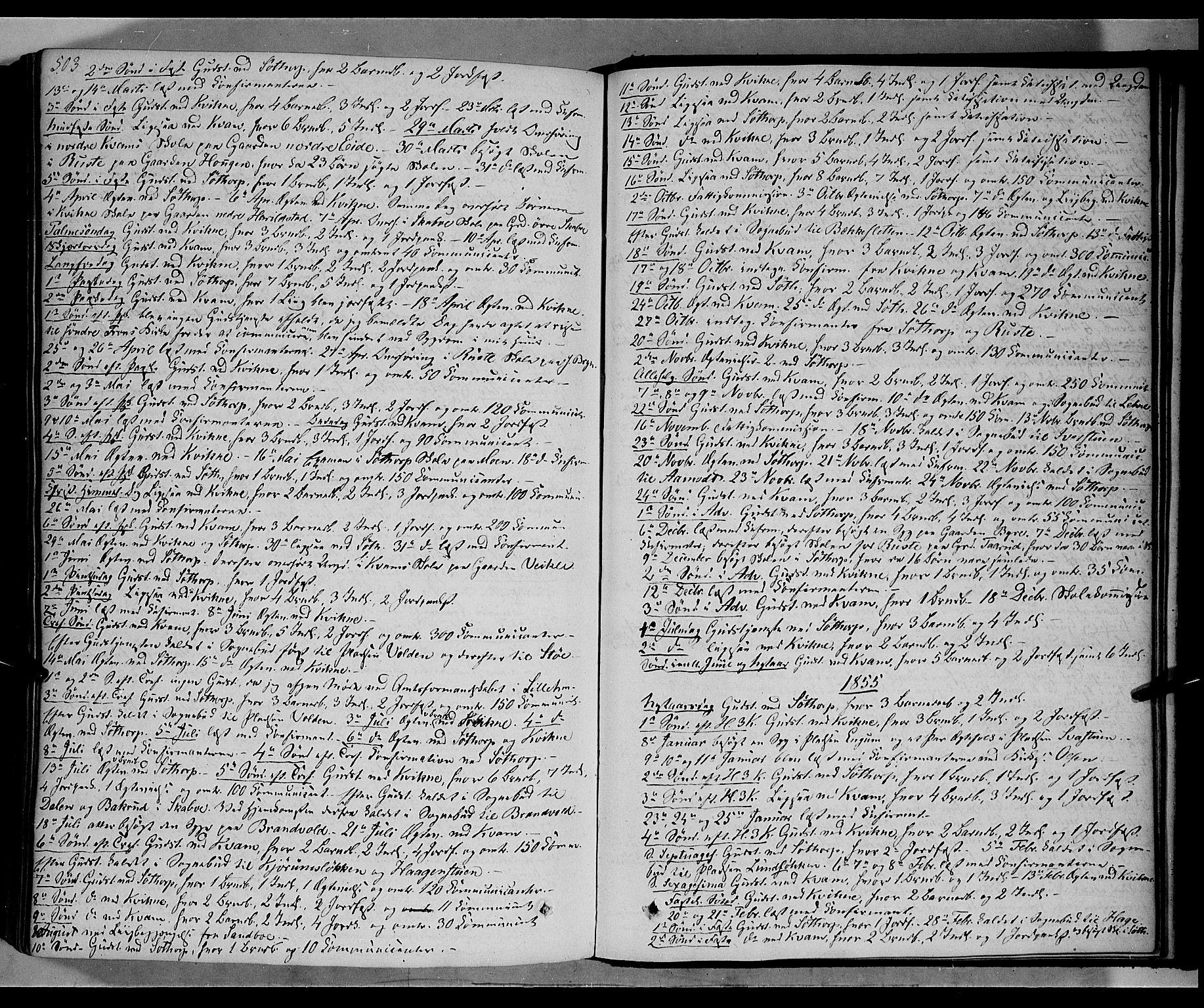 SAH, Nord-Fron prestekontor, Ministerialbok nr. 1, 1851-1864, s. 503