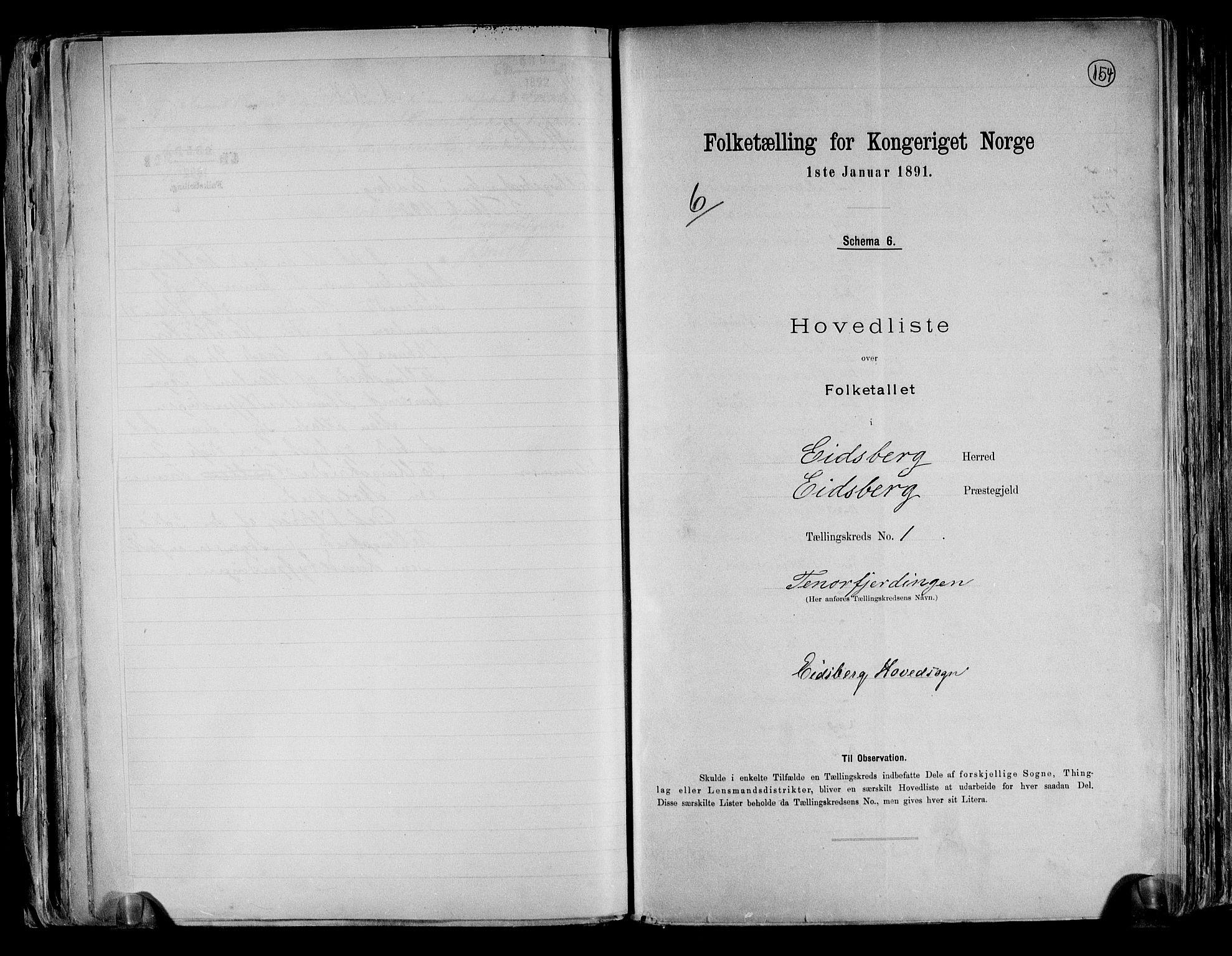 RA, Folketelling 1891 for 0125 Eidsberg herred, 1891, s. 6
