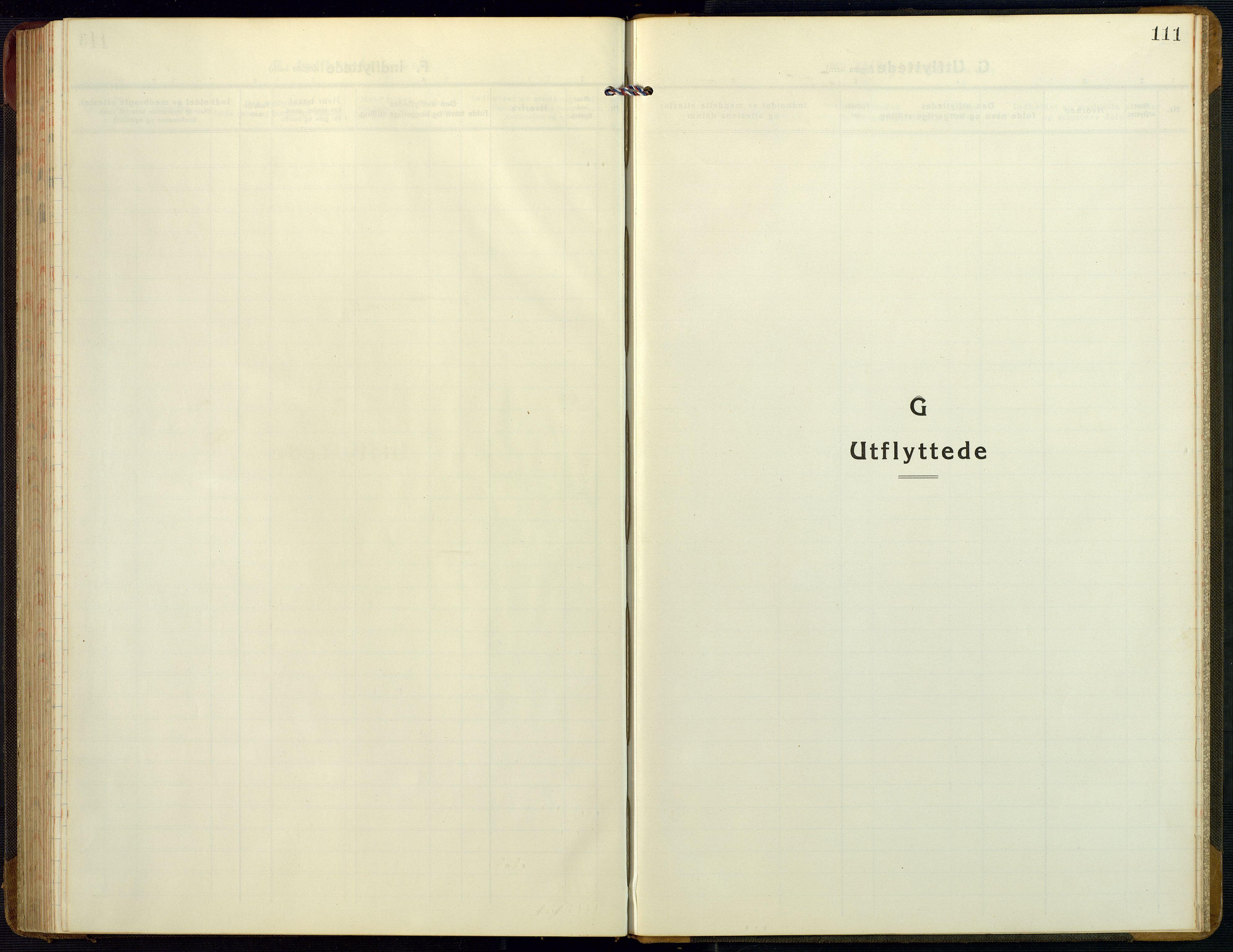 SAK, Bygland sokneprestkontor, F/Fb/Fbb/L0005: Klokkerbok nr. B 5, 1920-1955, s. 111