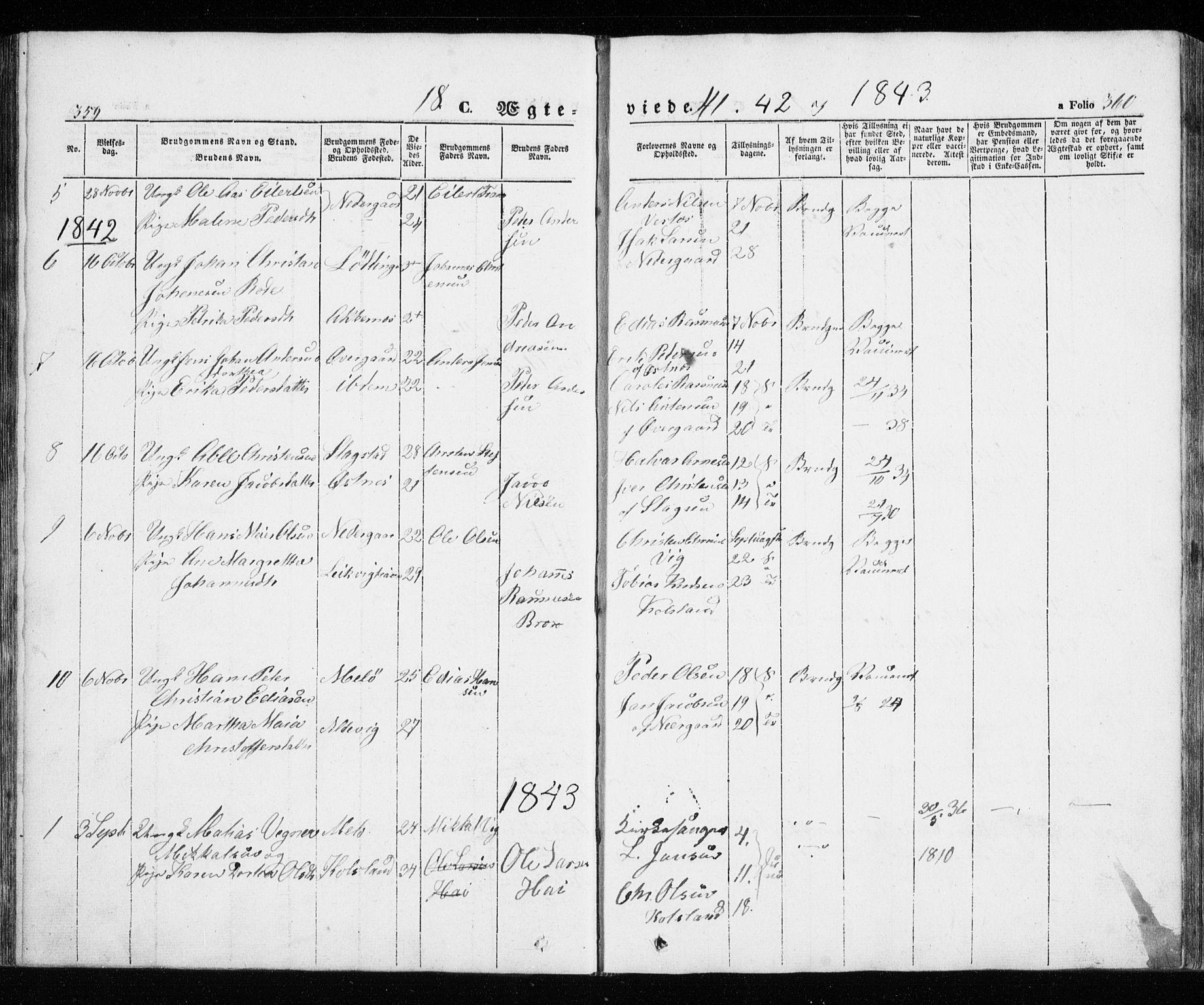 SATØ, Trondenes sokneprestkontor, H/Ha/L0010kirke: Ministerialbok nr. 10, 1840-1865, s. 359-360