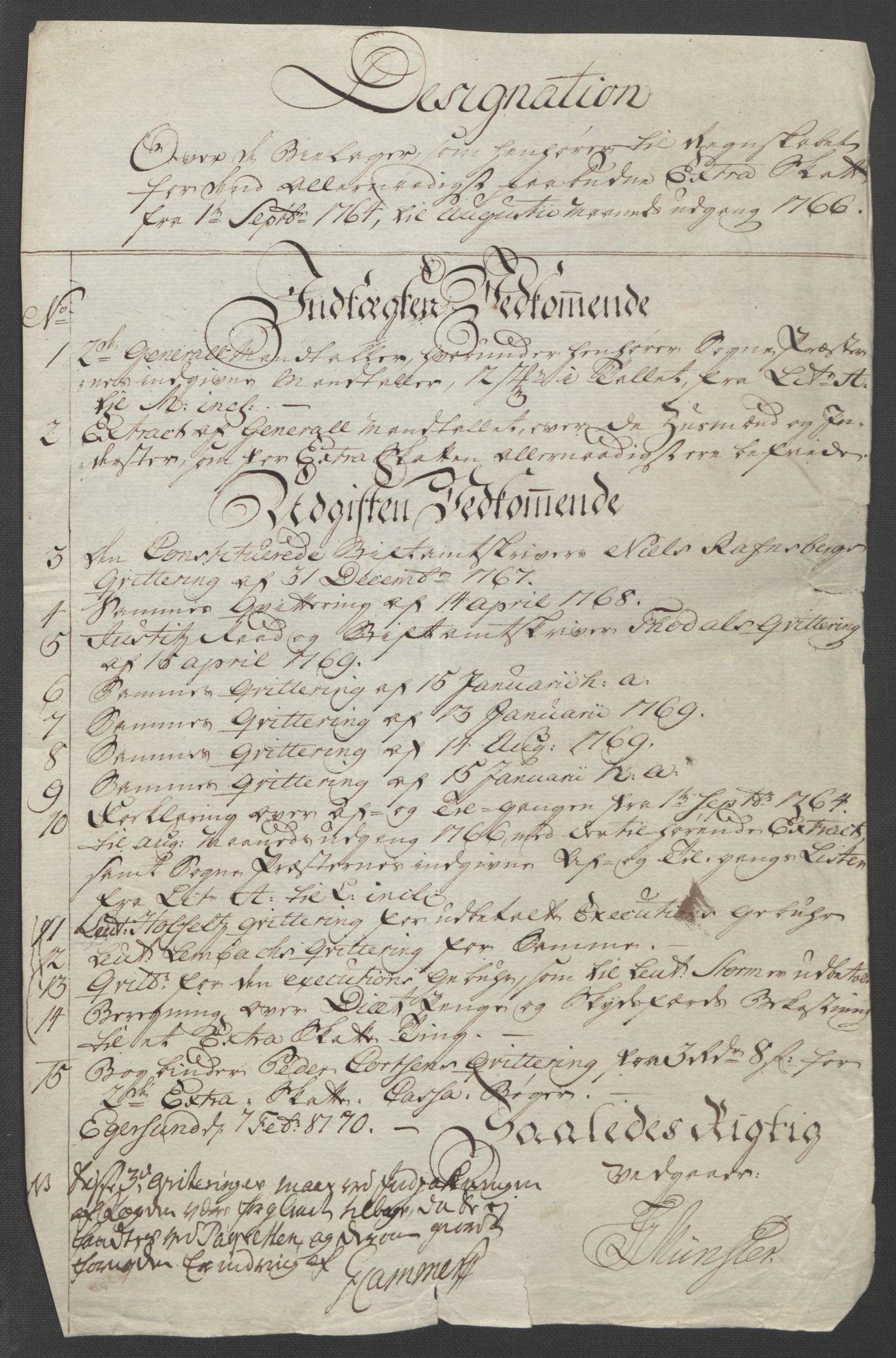 RA, Rentekammeret inntil 1814, Reviderte regnskaper, Fogderegnskap, R46/L2836: Ekstraskatten Jæren og Dalane, 1764-1766, s. 13