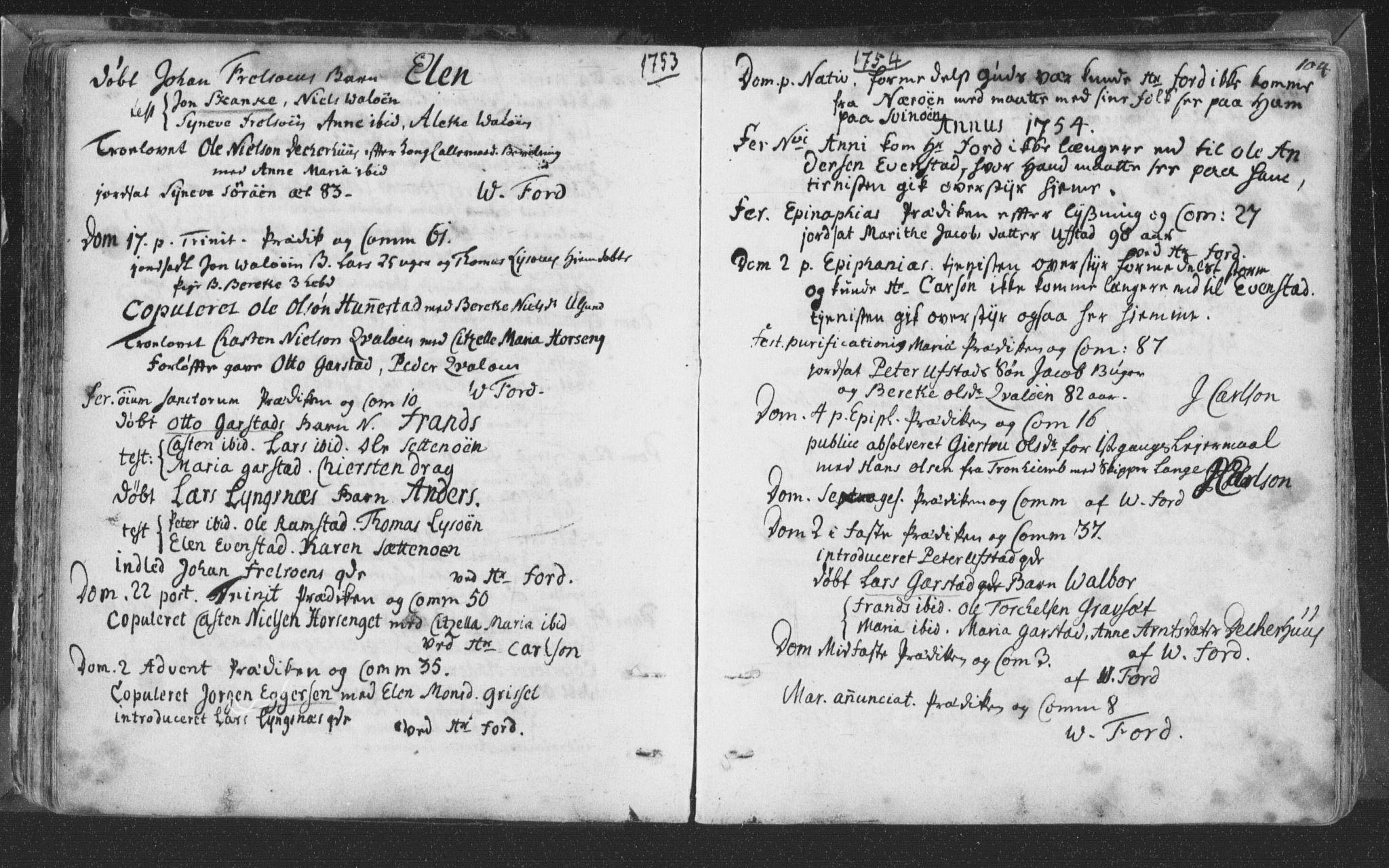 SAT, Ministerialprotokoller, klokkerbøker og fødselsregistre - Nord-Trøndelag, 786/L0685: Ministerialbok nr. 786A01, 1710-1798, s. 104