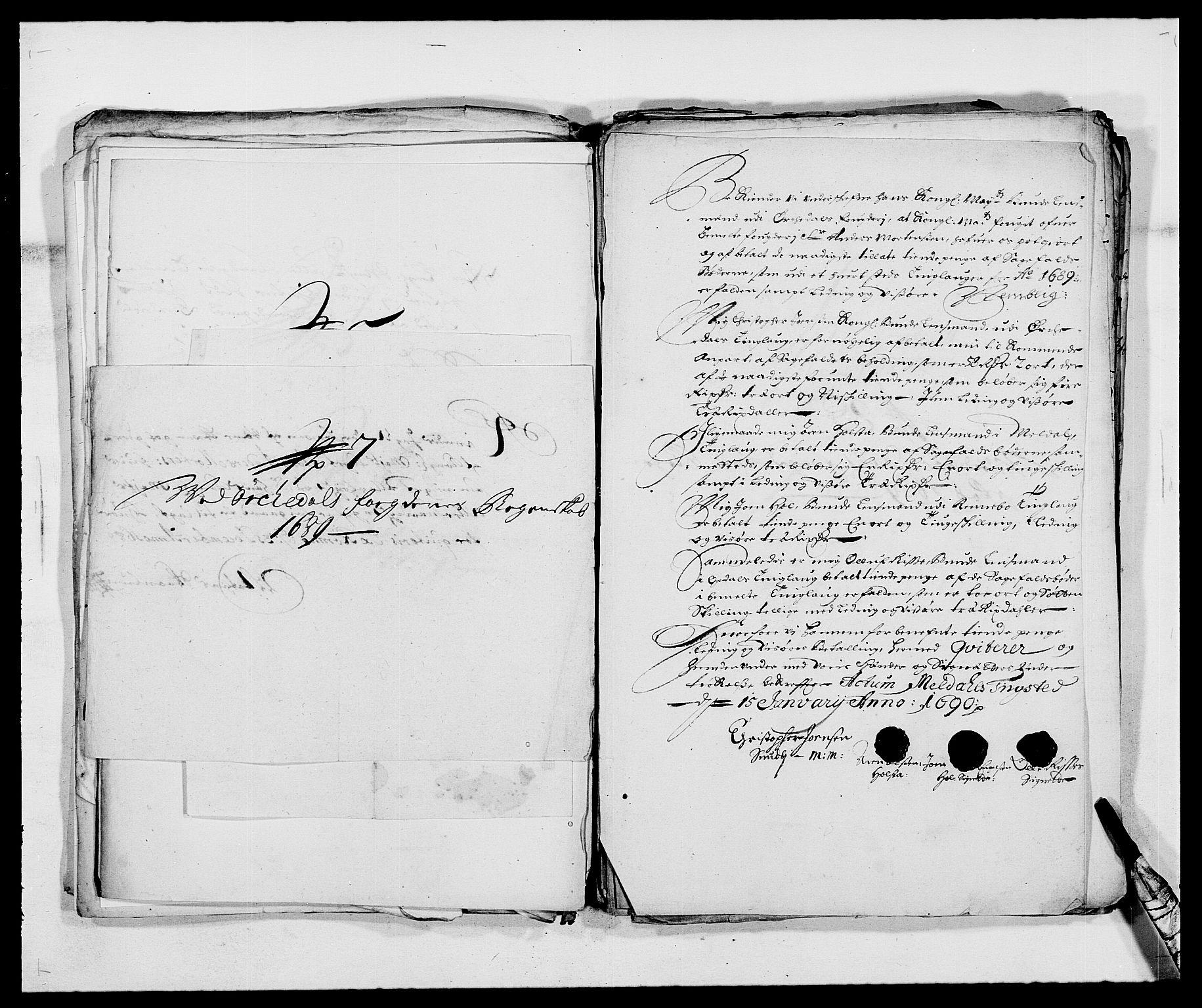 RA, Rentekammeret inntil 1814, Reviderte regnskaper, Fogderegnskap, R58/L3936: Fogderegnskap Orkdal, 1689-1690, s. 190