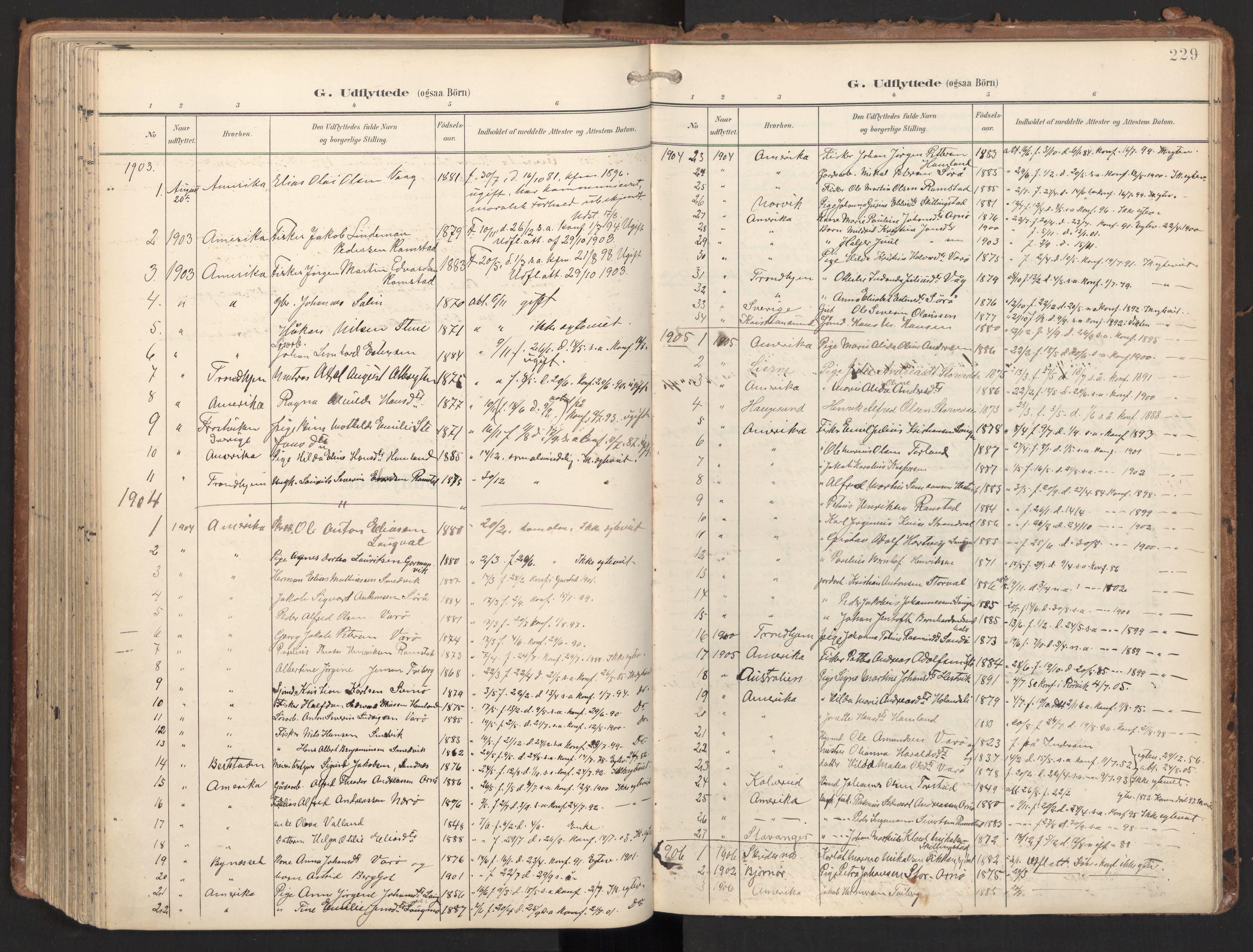 SAT, Ministerialprotokoller, klokkerbøker og fødselsregistre - Nord-Trøndelag, 784/L0677: Ministerialbok nr. 784A12, 1900-1920, s. 229