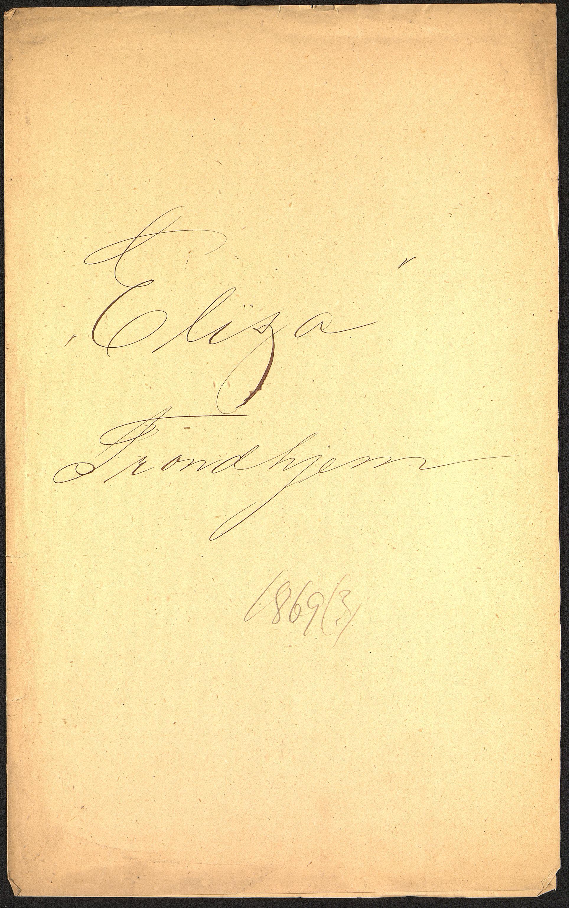 VEMU, Pa 63 - Østlandske skibsassuranceforening, G/Ga/L0002: Havaridokumenter, 1869