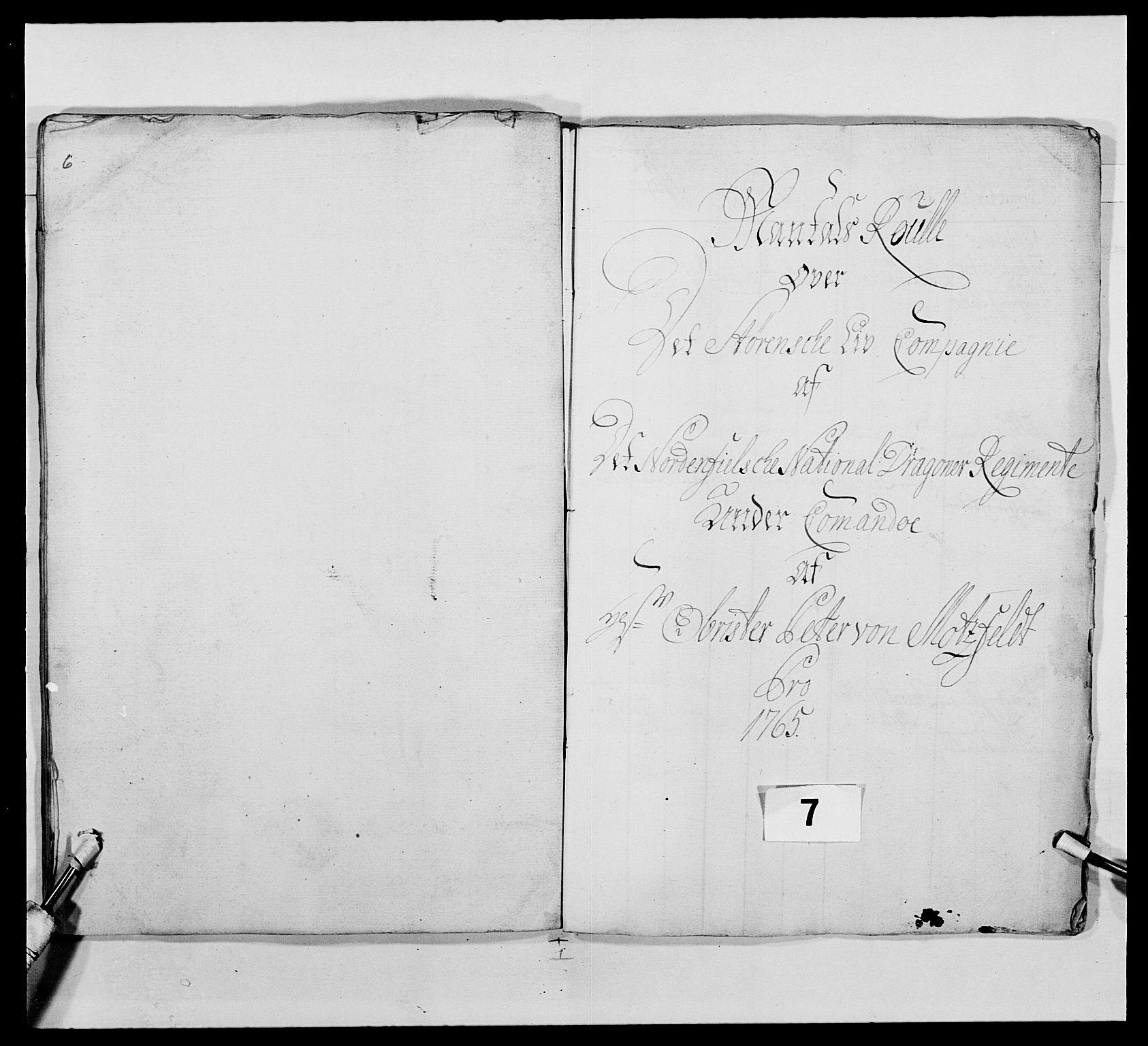 RA, Kommanderende general (KG I) med Det norske krigsdirektorium, E/Ea/L0483: Nordafjelske dragonregiment, 1765-1767, s. 138
