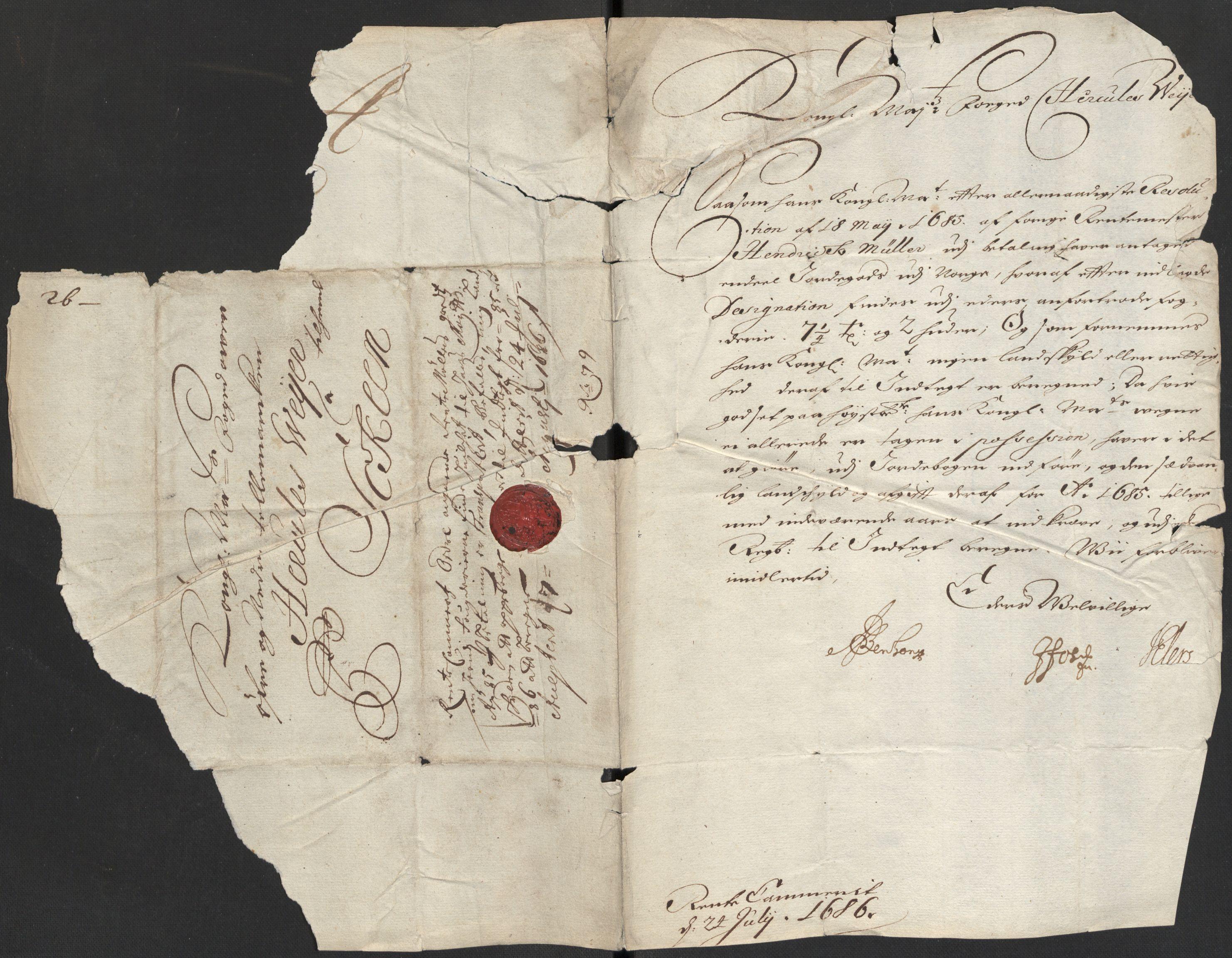 RA, Rentekammeret inntil 1814, Reviderte regnskaper, Fogderegnskap, R35/L2083: Fogderegnskap Øvre og Nedre Telemark, 1686, s. 17