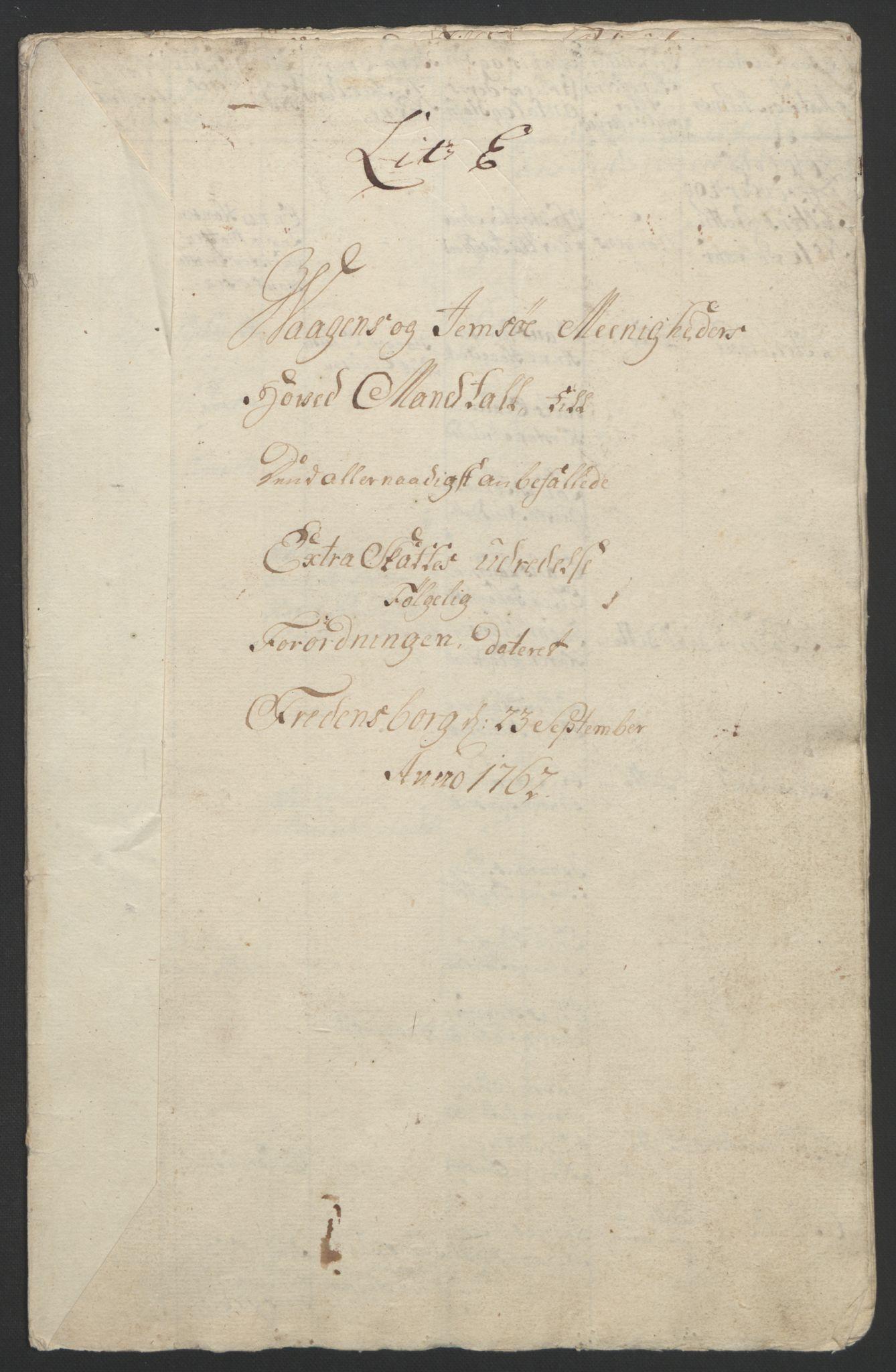 RA, Rentekammeret inntil 1814, Reviderte regnskaper, Fogderegnskap, R67/L4747: Ekstraskatten Vesterålen, Andenes og Lofoten, 1762-1766, s. 100
