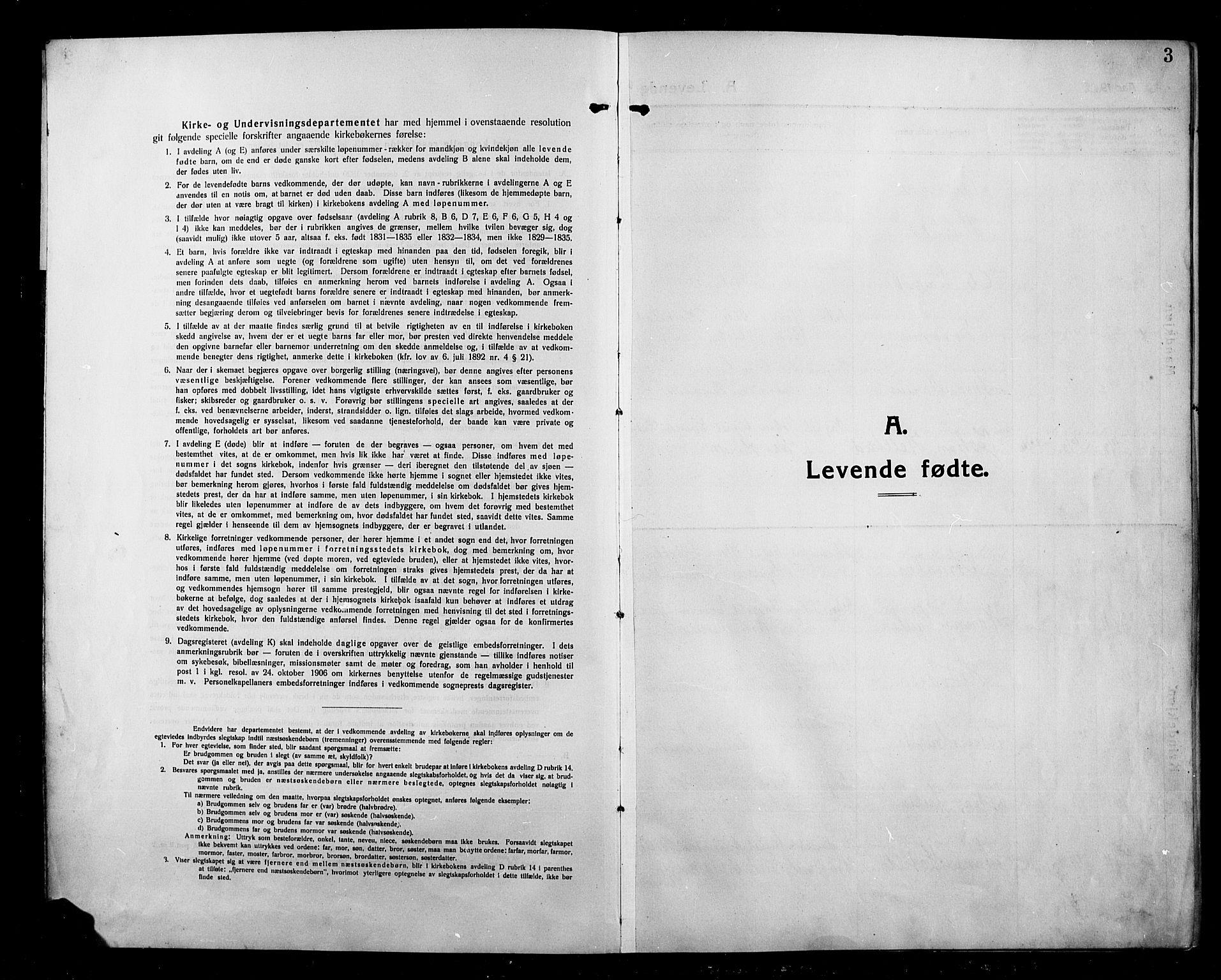 SAH, Kolbu prestekontor, Klokkerbok nr. 1, 1912-1925, s. 3