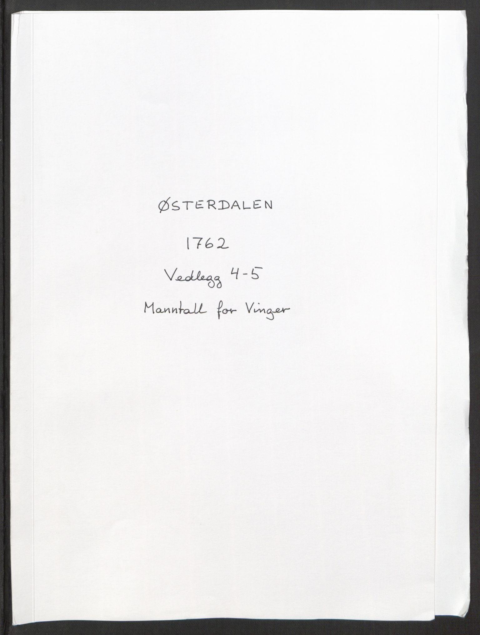 RA, Rentekammeret inntil 1814, Reviderte regnskaper, Fogderegnskap, R15/L1014: Ekstraskatten Østerdal, 1762-1764, s. 87