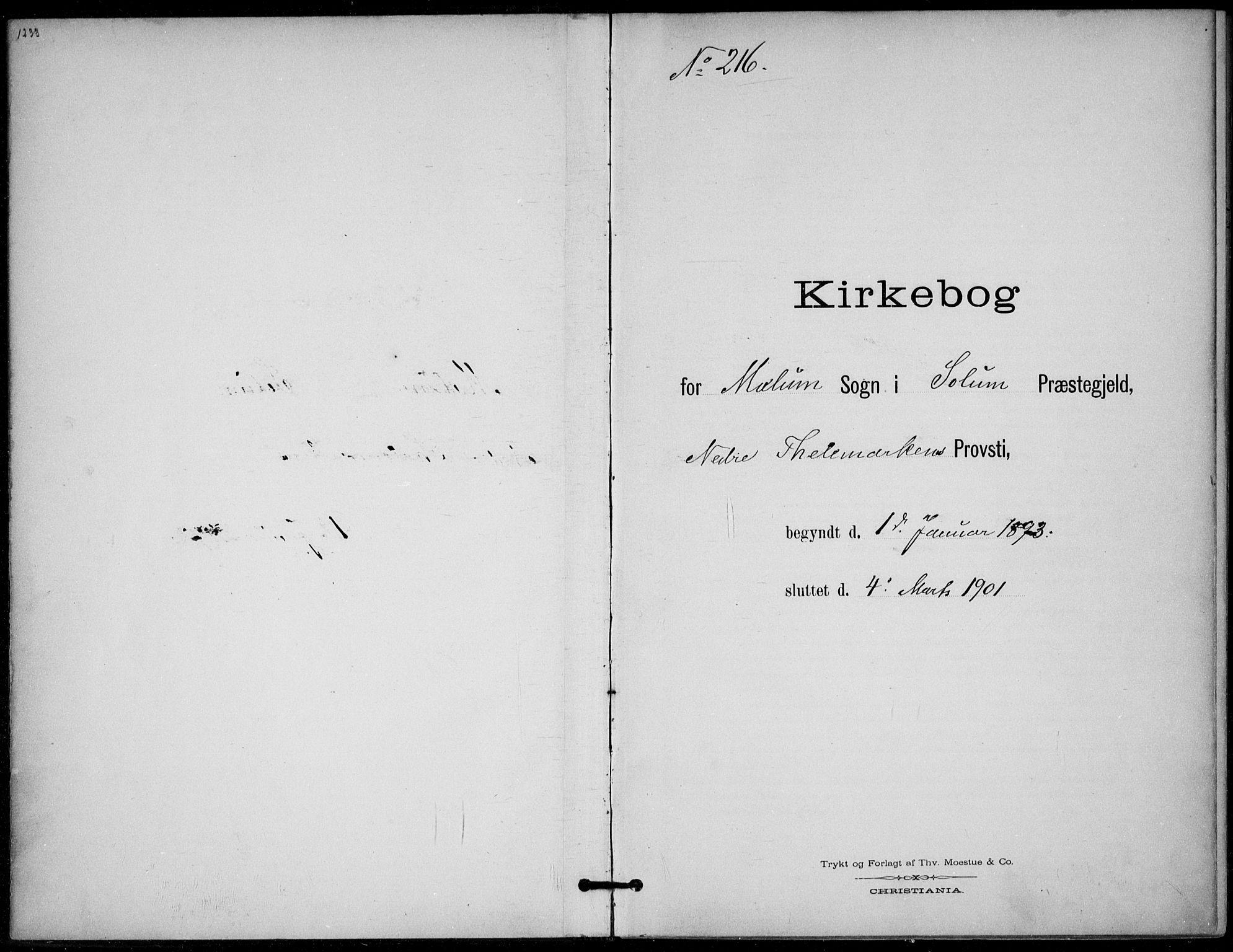 SAKO, Solum kirkebøker, F/Fb/L0002: Ministerialbok nr. II 2, 1893-1901