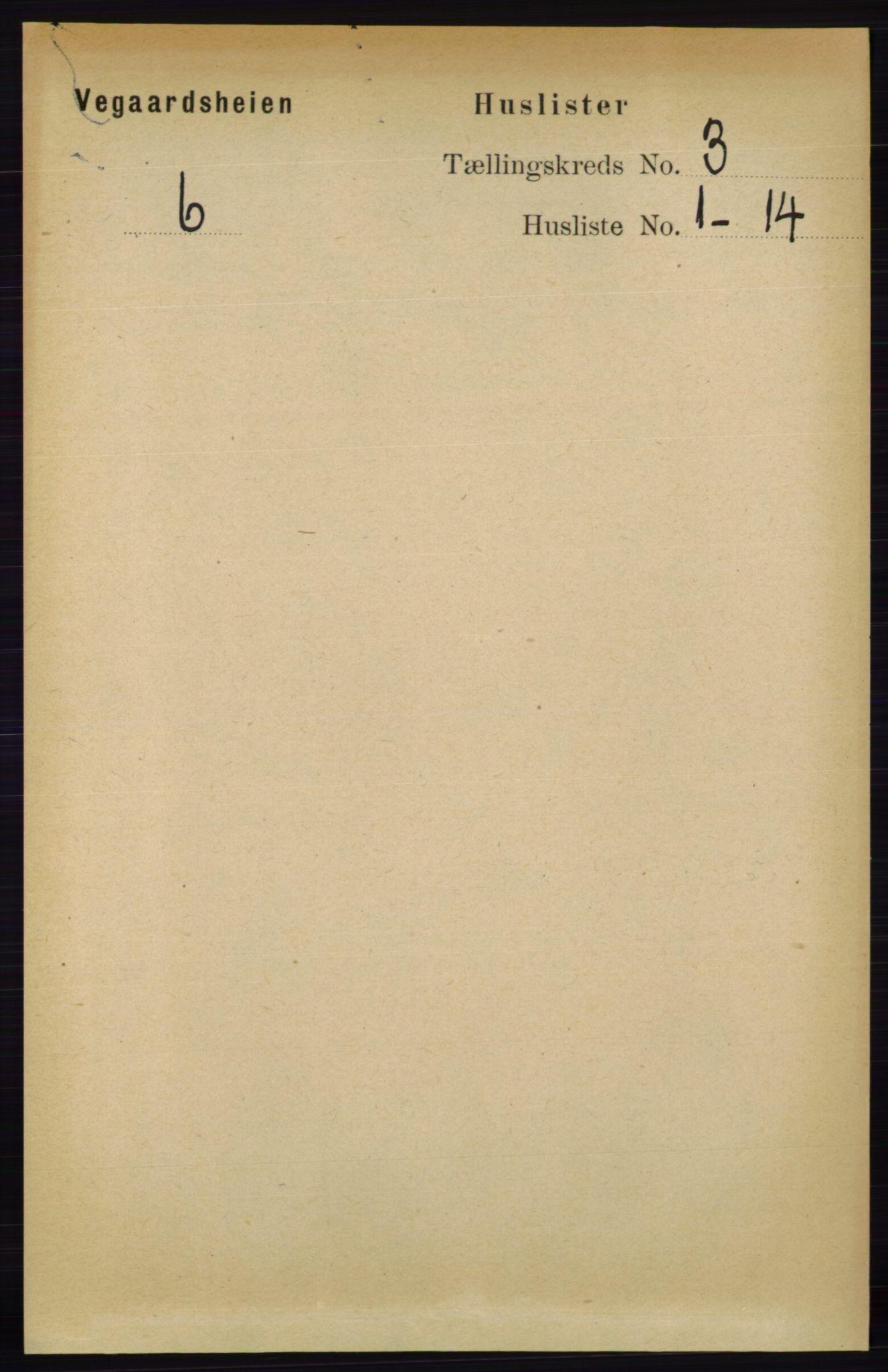 RA, Folketelling 1891 for 0912 Vegårshei herred, 1891, s. 602